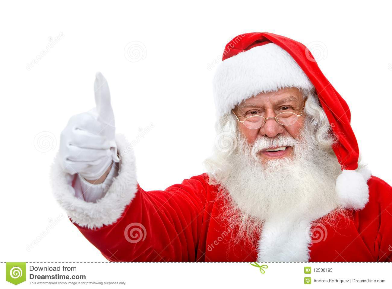 Santa With Thumbs Up Royalty Free Stock Photo - Image ...