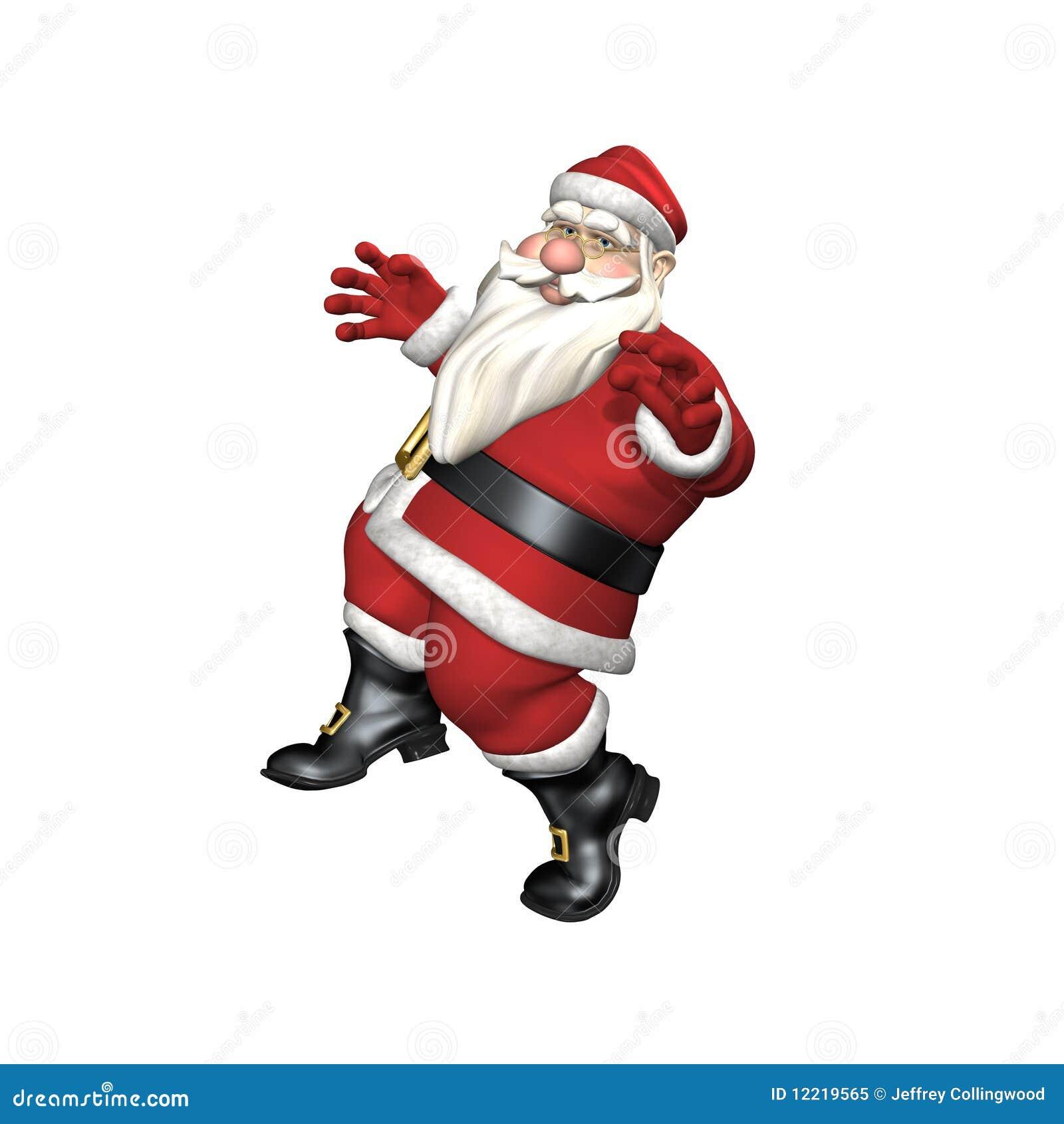 Santa tiptoeing royalty free stock photo image