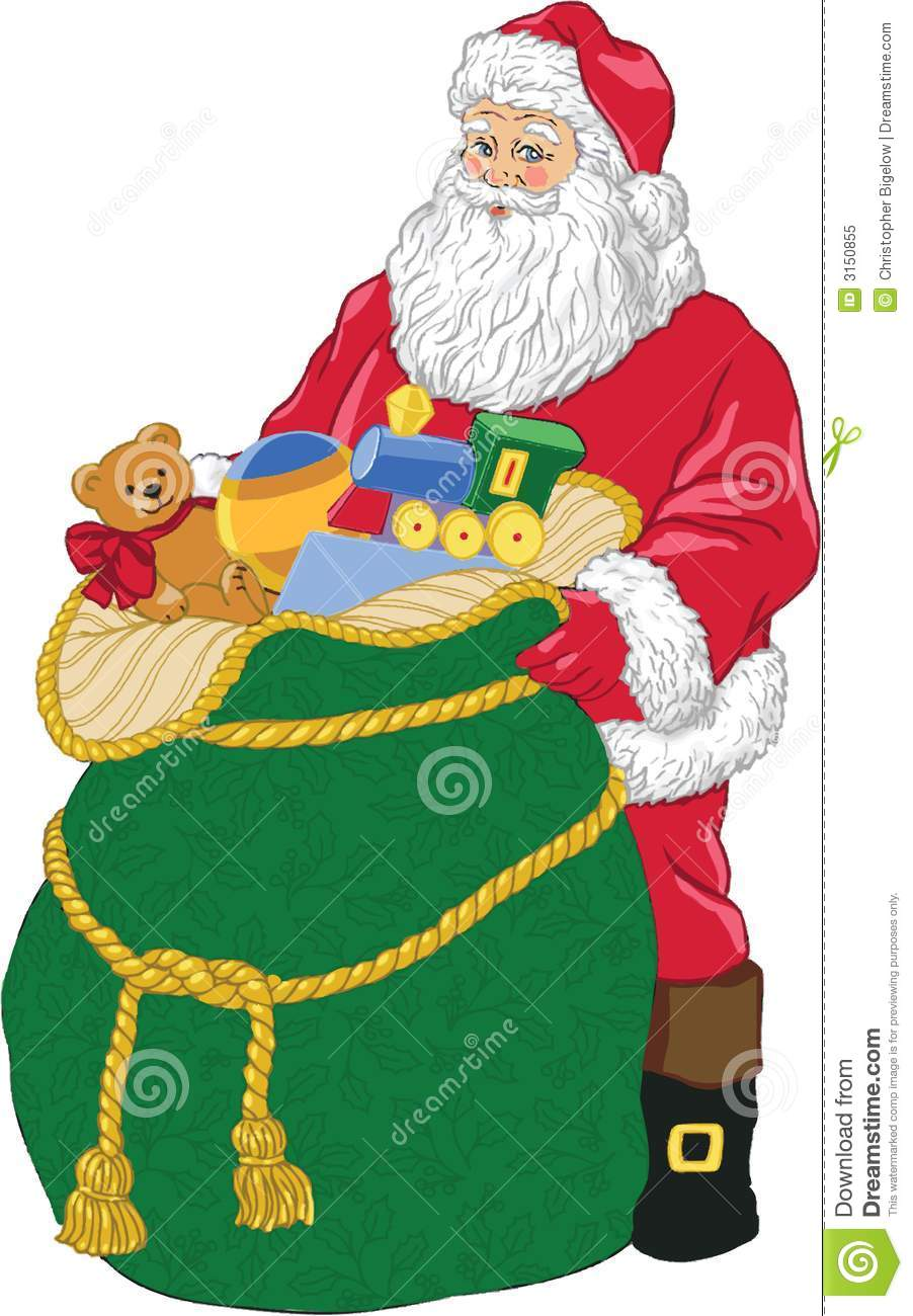 Toys From Santa : Santa with toys stock vector illustration of