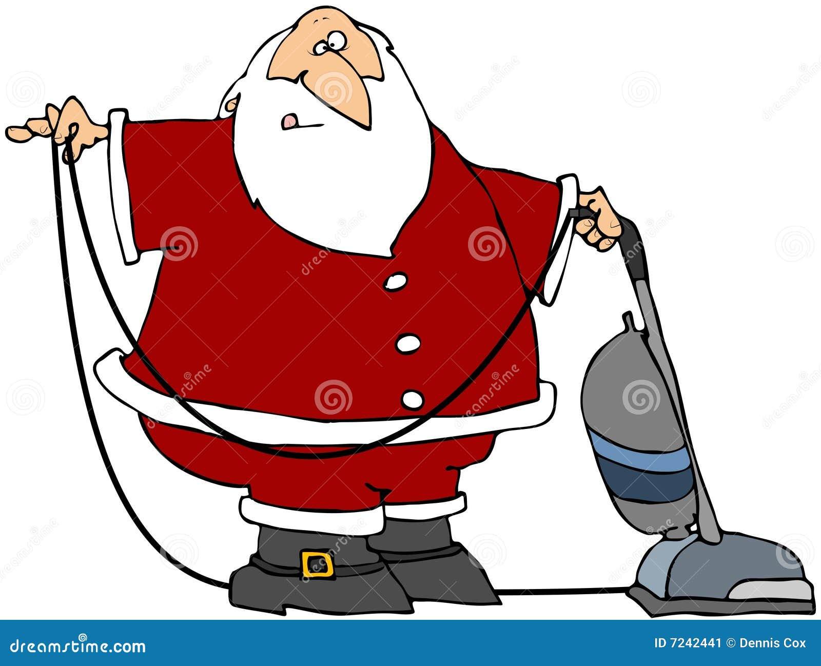 santa using a vacuum stock image image 7242441 clip art crocheting clip art coach