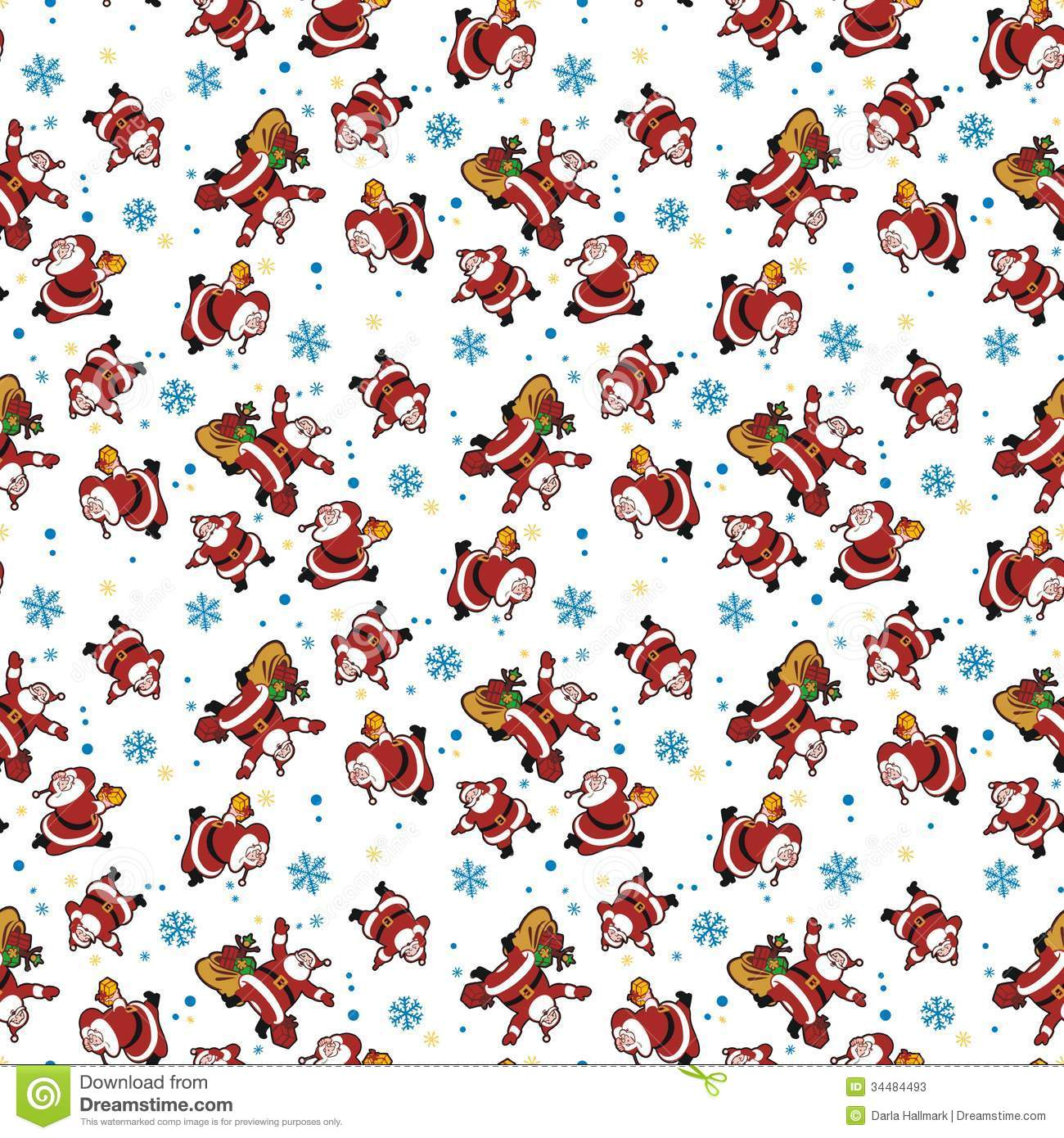 Santa Wallpaper Stock Illustration Of Hurry