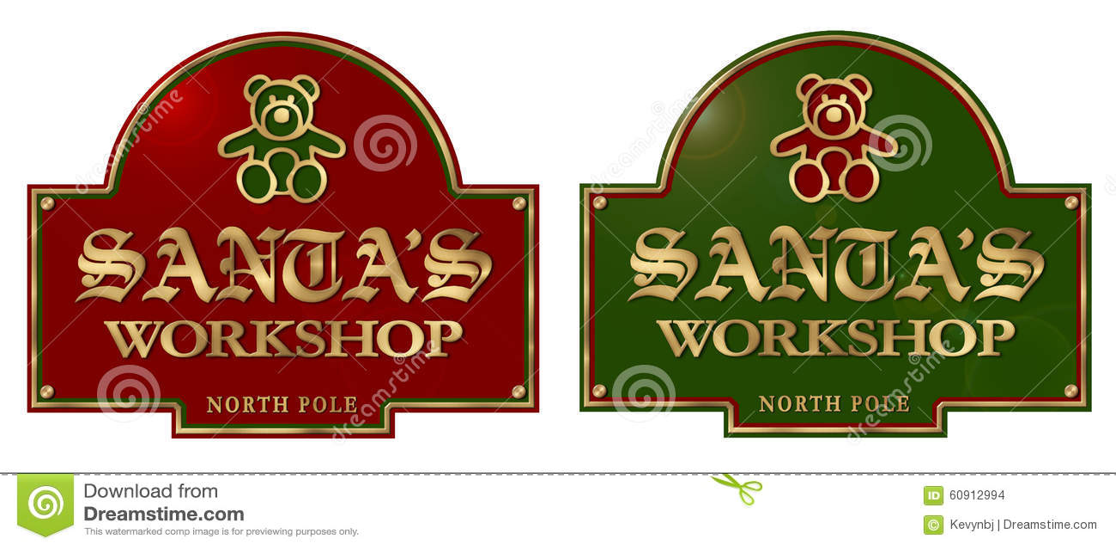 Santa warsztata znaka plakieta