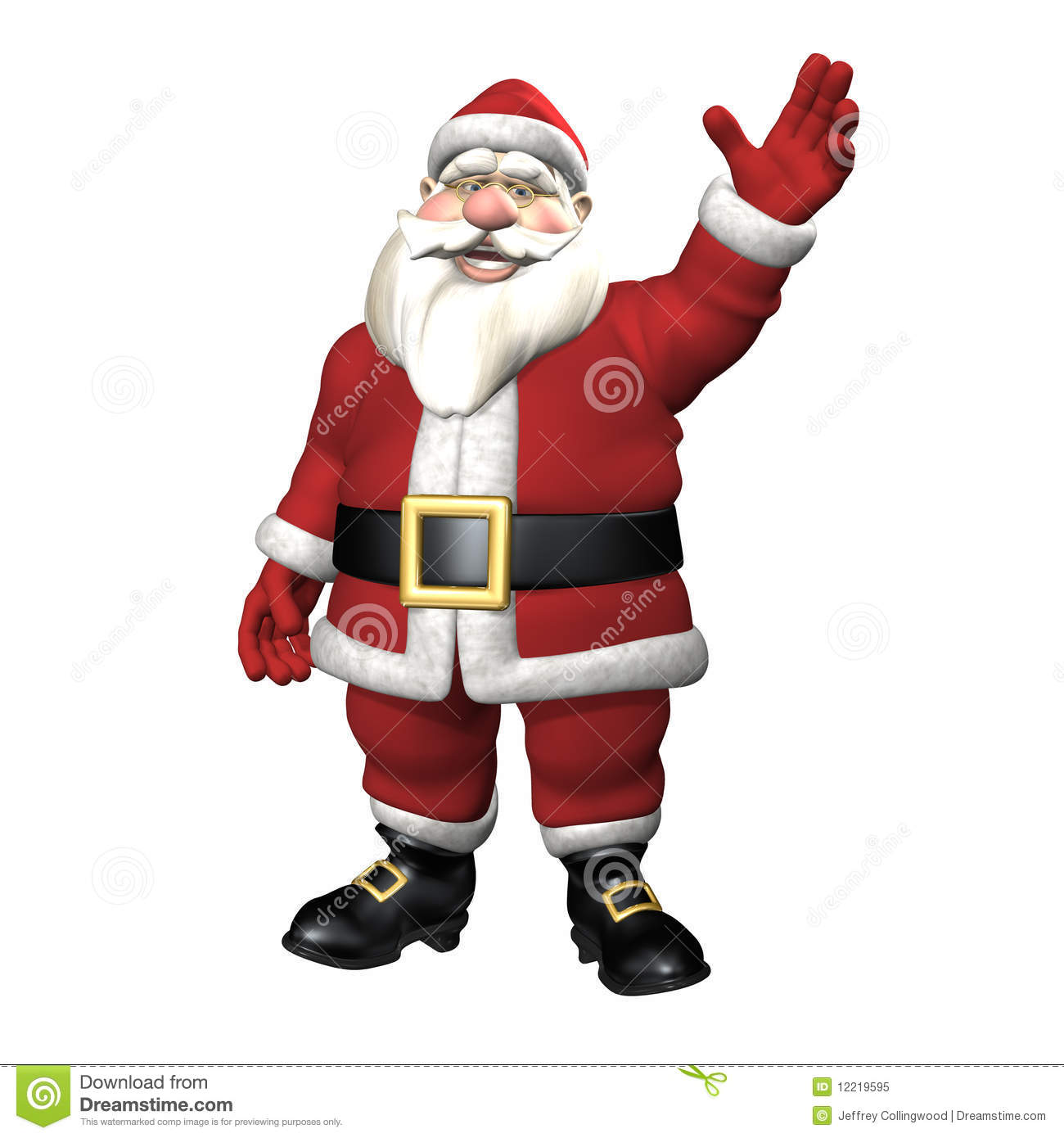 Santa waving royalty free stock photo image