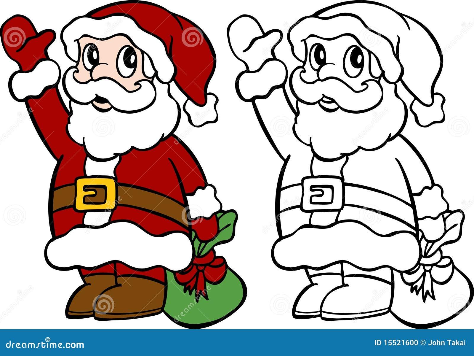 santa waving stock photo image 15521600