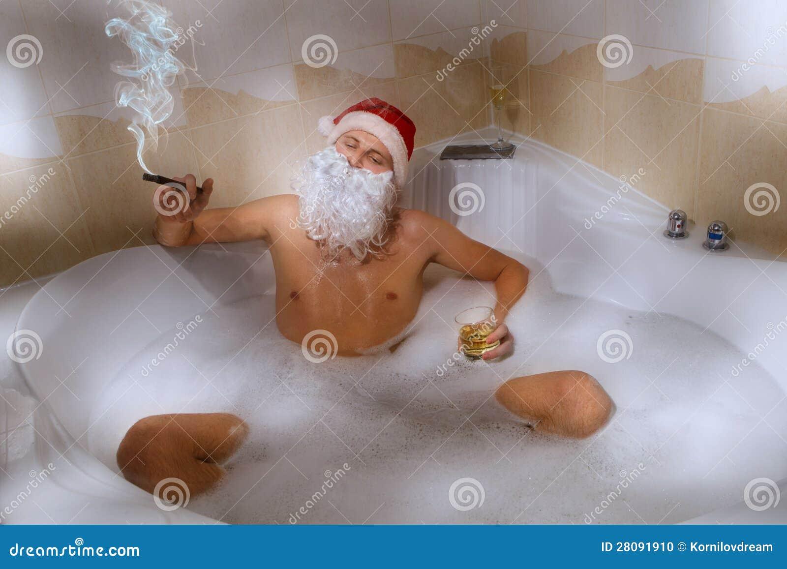 28 santa in a bathtub yule love this a box of bubble bars f