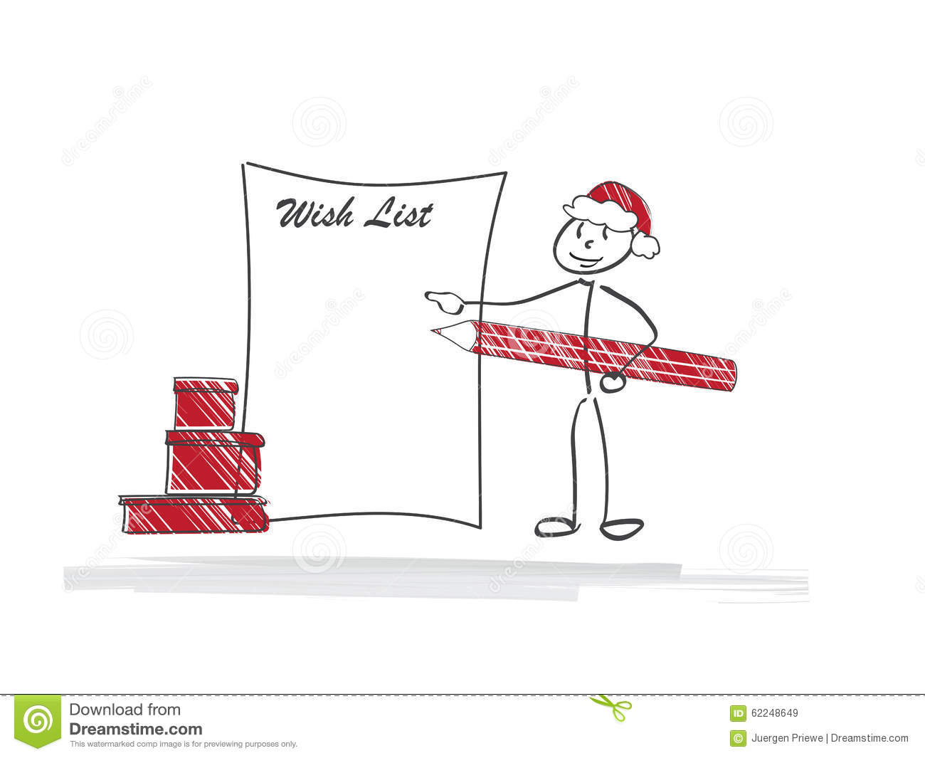 Santa Wish List stock illustration. Illustration of holiday - 62248649