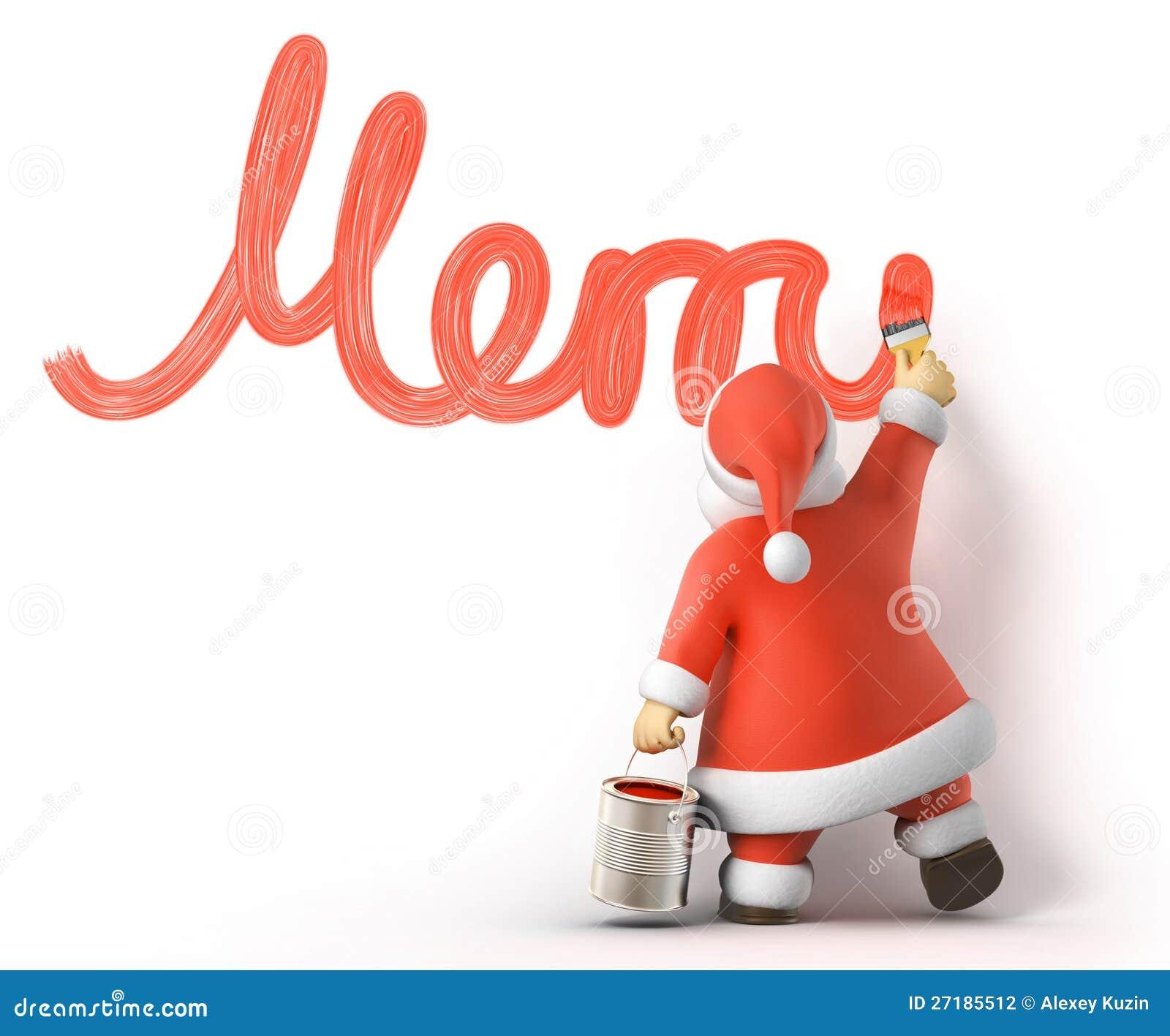 Santa writes