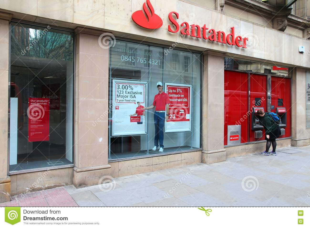 Santander Bank editorial photography  Image of institution