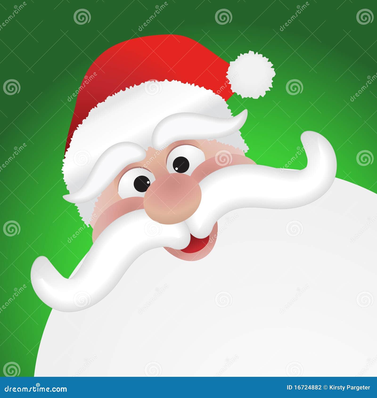 santas face stock vector illustration of santa holiday 16724882