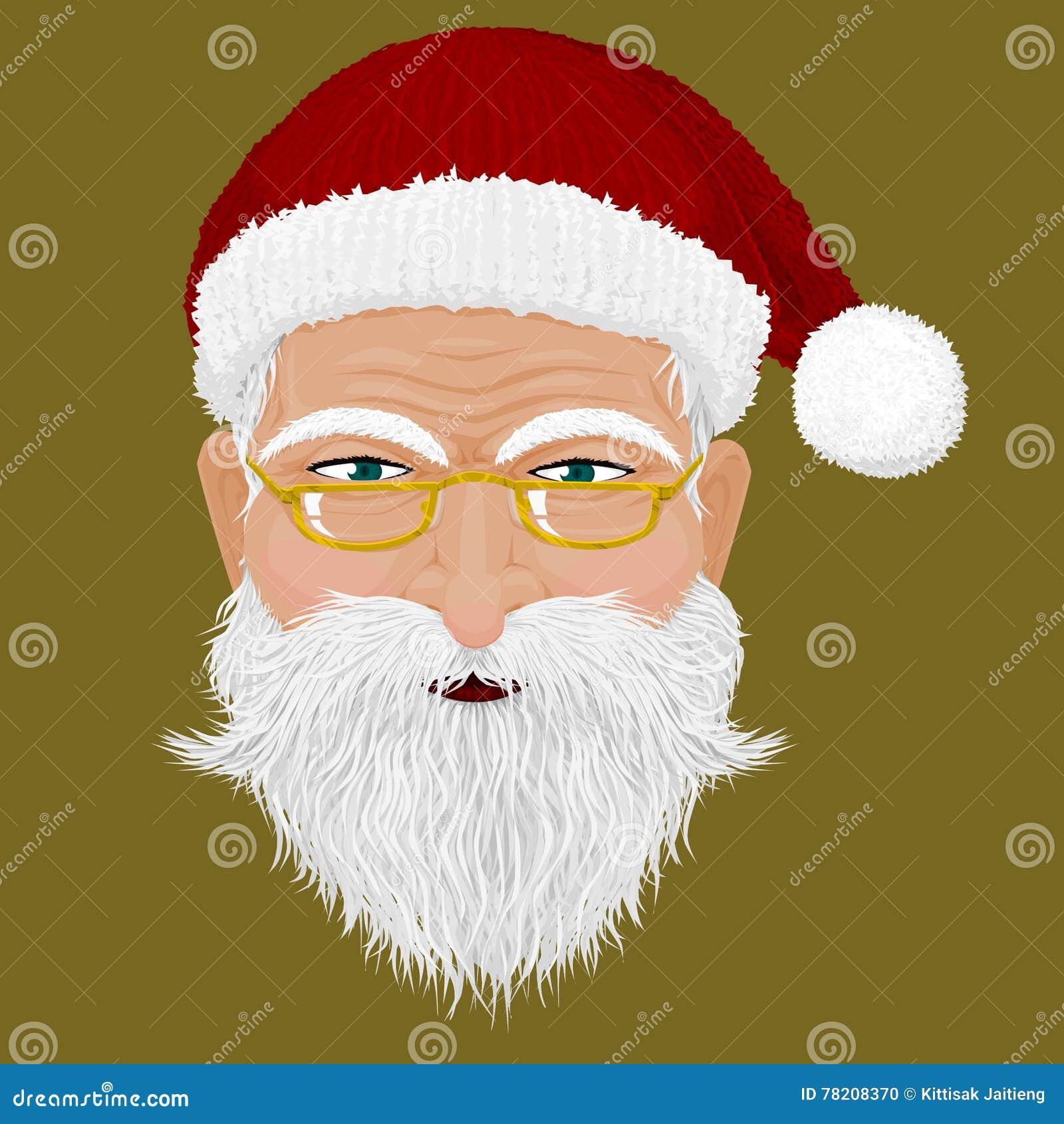 santas head stock vector illustration of kind face 78208370