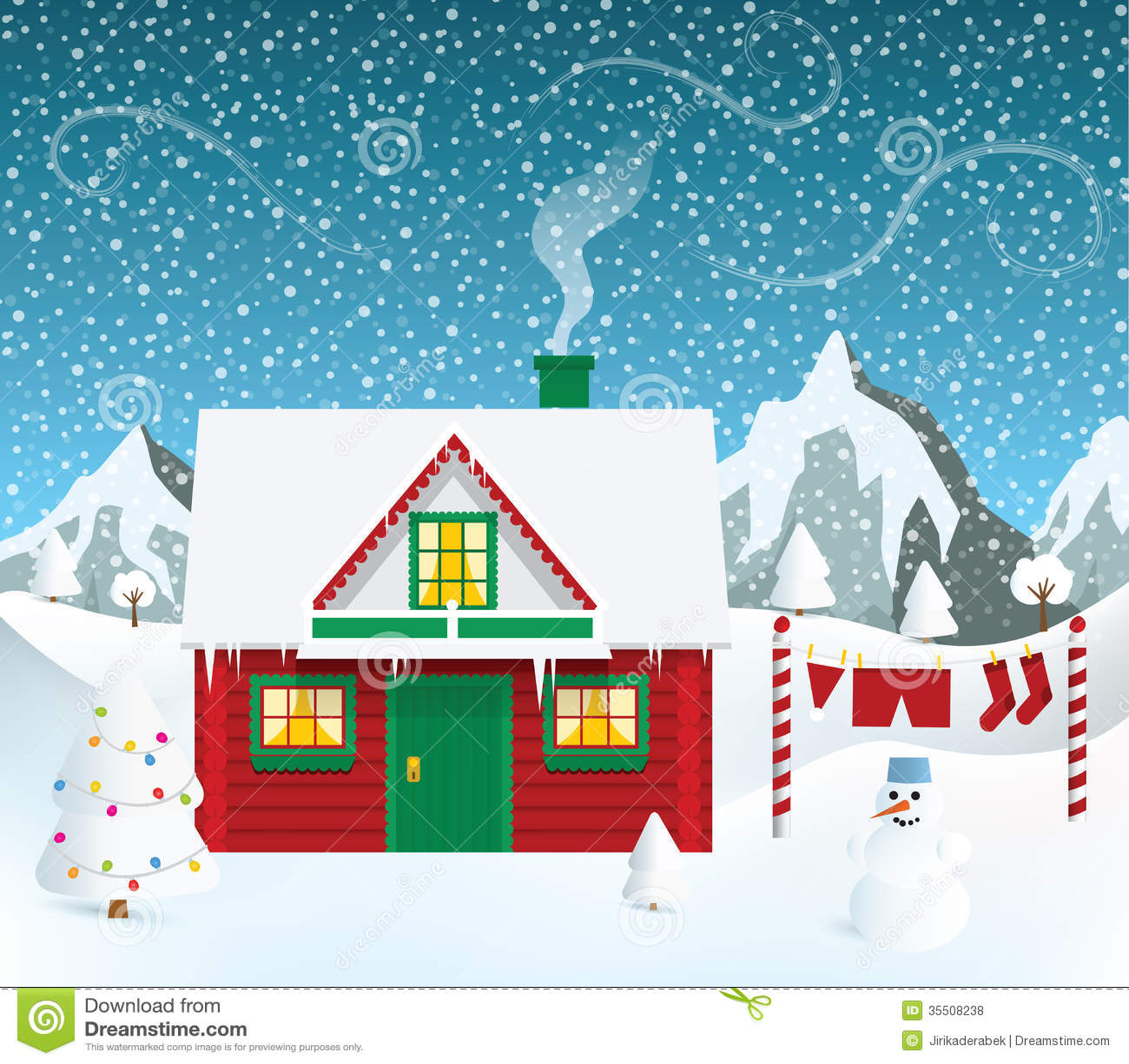 Santas House Royalty Free Stock Photos - Image: 35508238