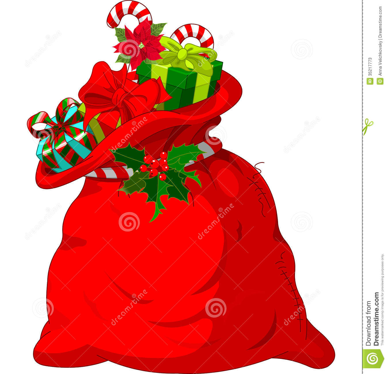 Santa s sack stock photos image