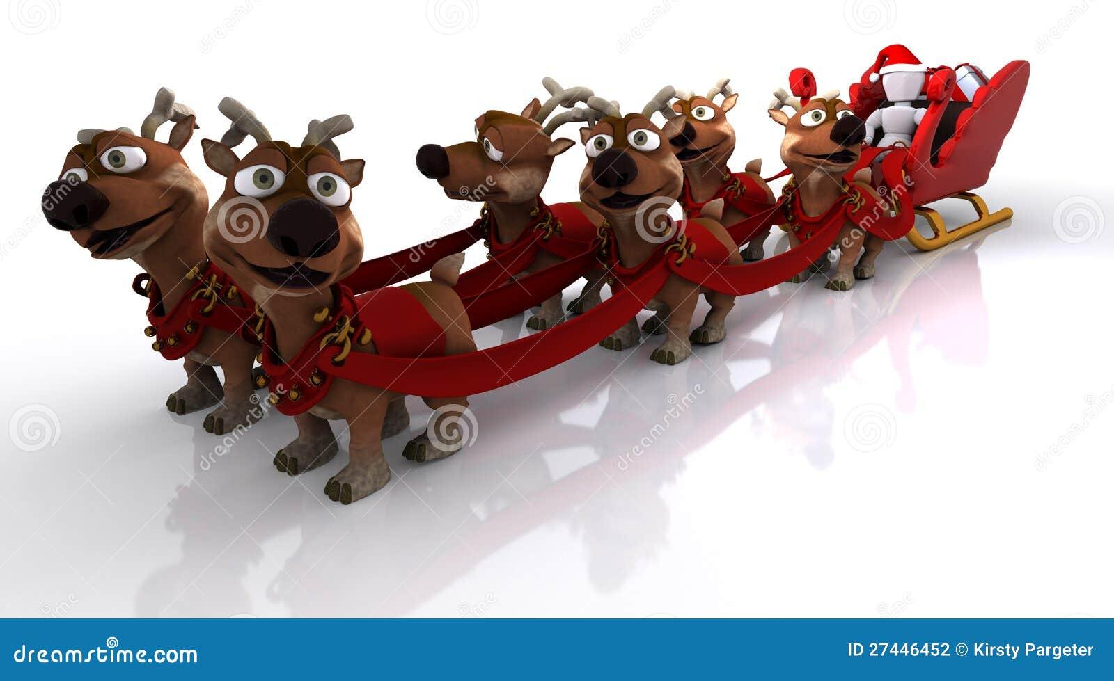 Santas sleigh och ren
