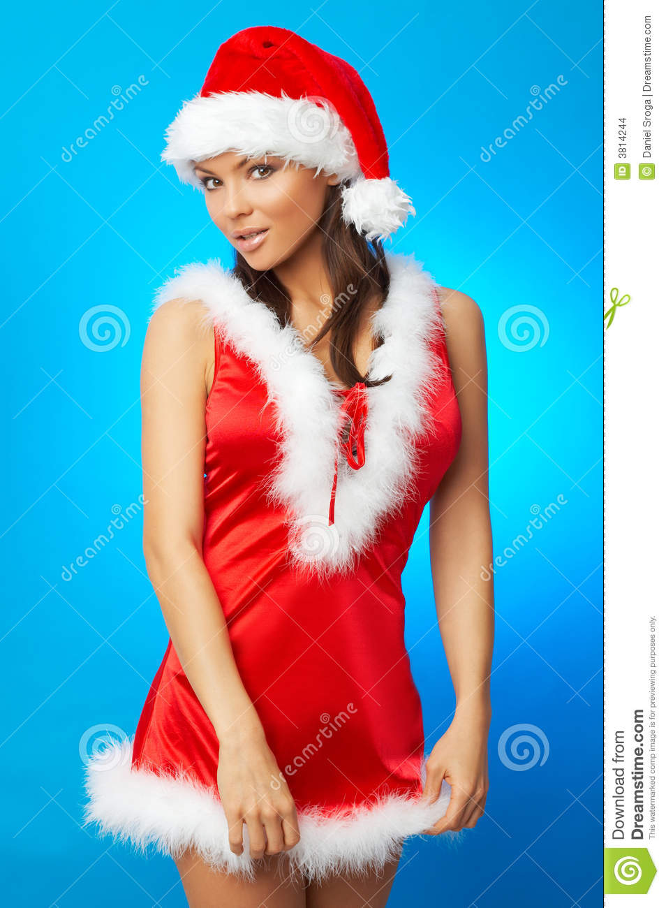 Girl in red xmass dress ootd - 1 5