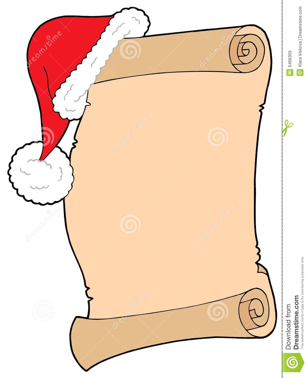 Use The Form Below To Delete This Santas Wish List Vector Illustration