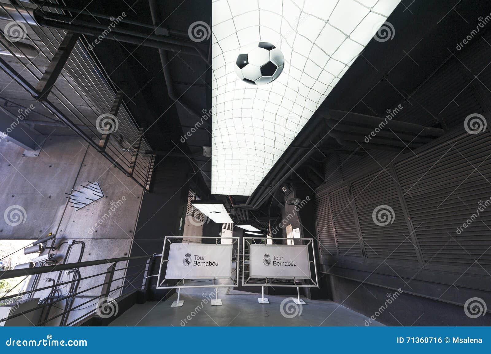 At Santiago Bernabeu Stadium