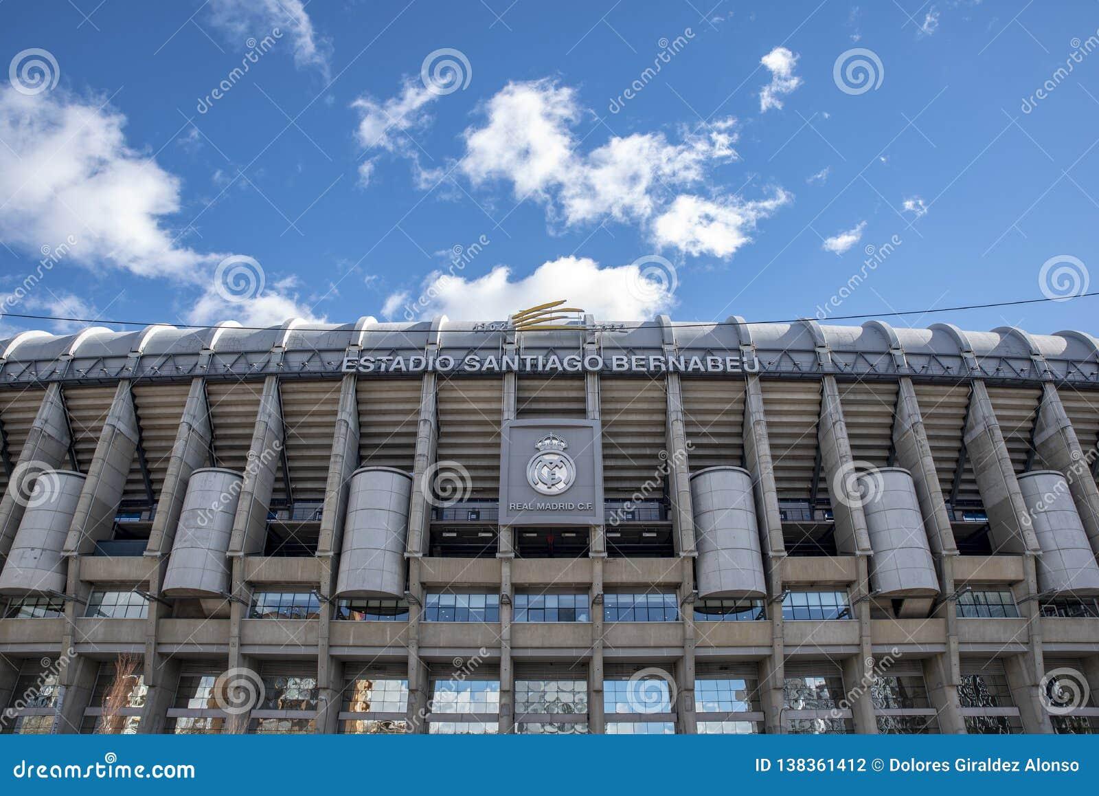 Santiago Bernabeu stadium - the official arena of FC Real Madrid