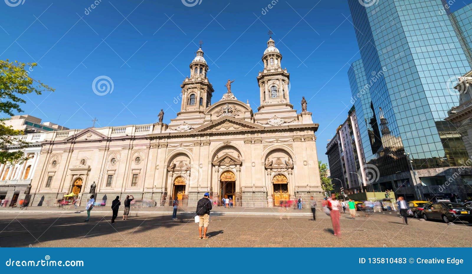 Santiago de Chile du centre, les gratte-ciel modernes s est mélangé aux bâtiments historiques, Chili