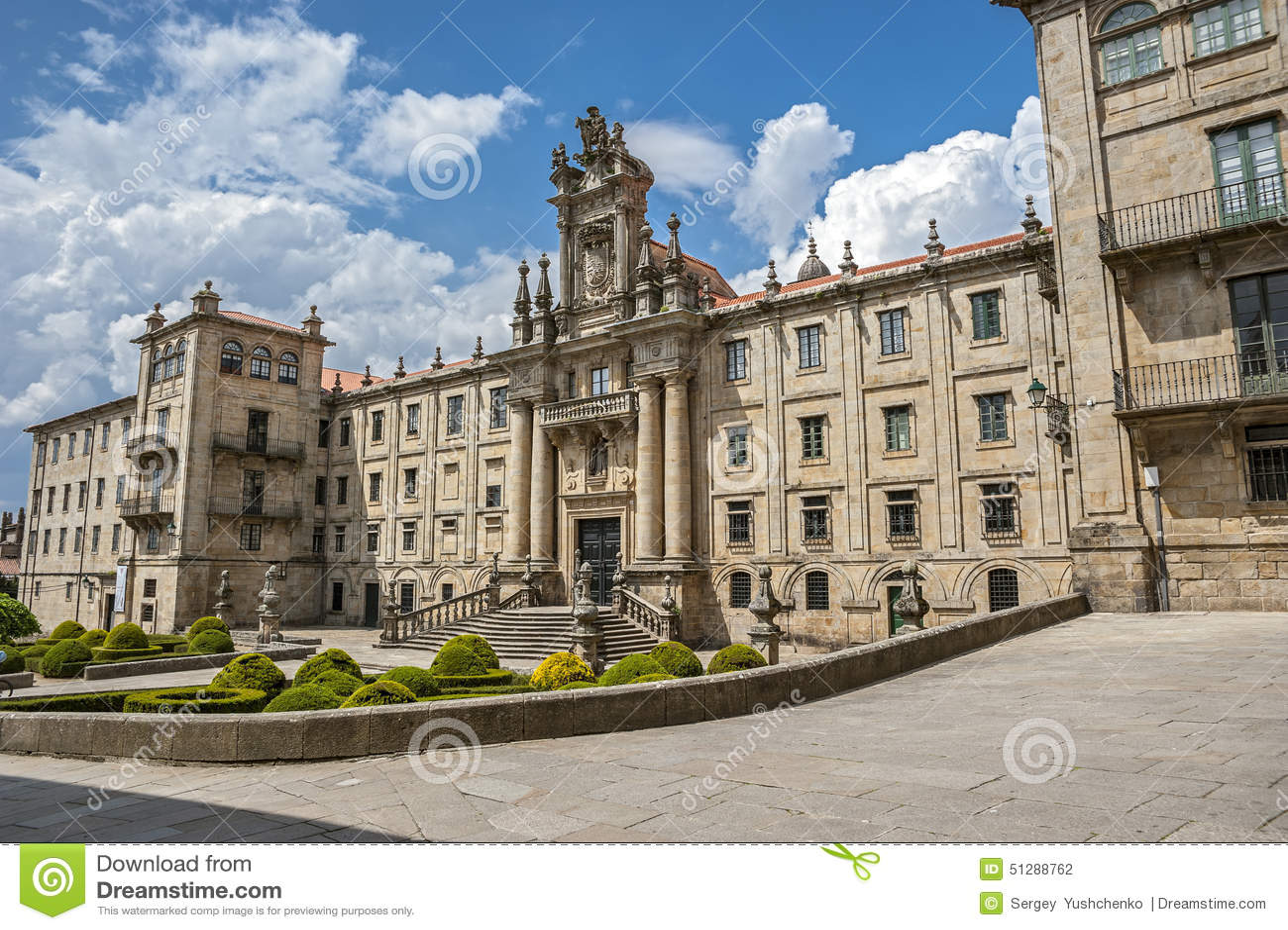 Santiago De Compostela, Hiszpania Monaster St Martin Pinario