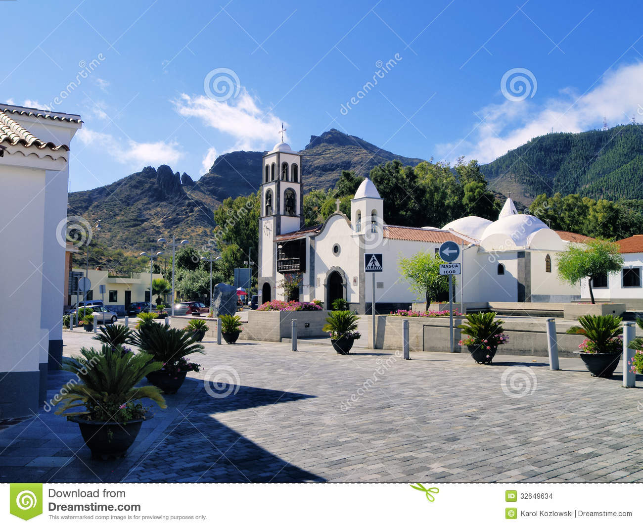 Santiago del Teide Spain  city pictures gallery : Santiago del Teide small town on Tenerife, Canary Islands, Spain.
