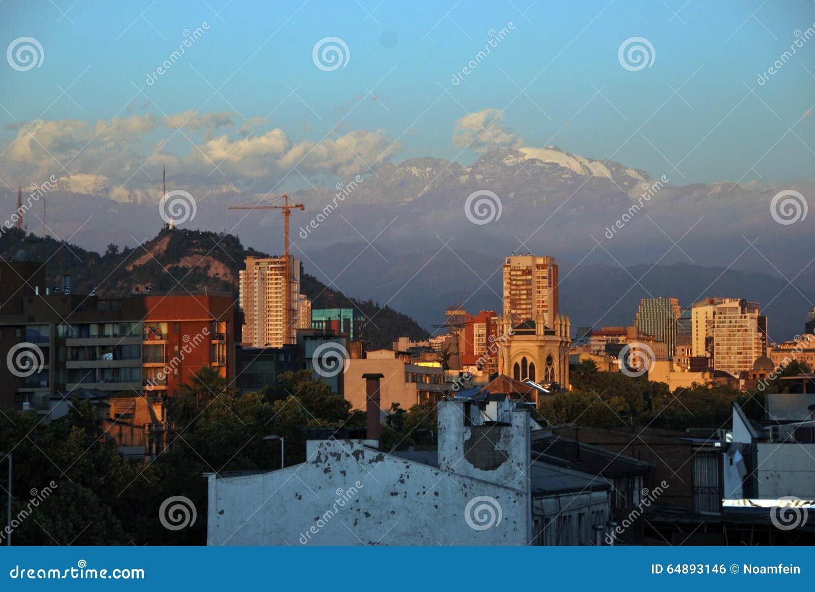 Santiago font le Chili