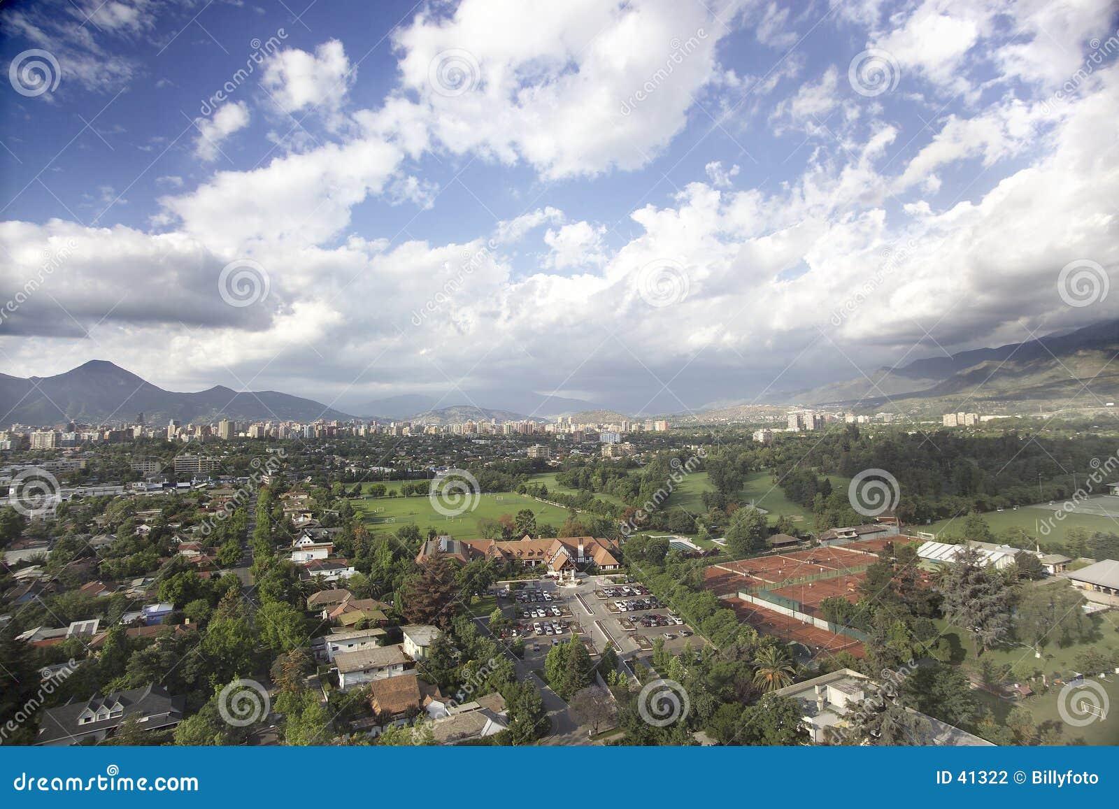 Santiago after the rain