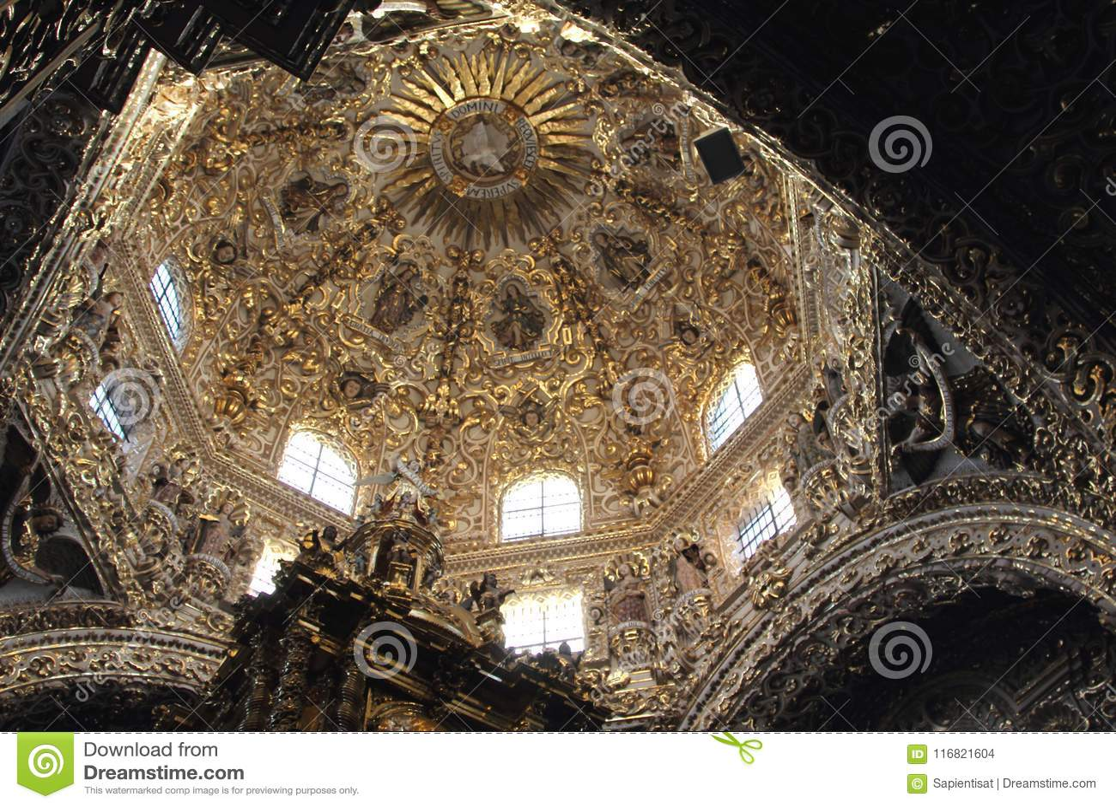 Santo Domingo Church, Puebla, Mexico.