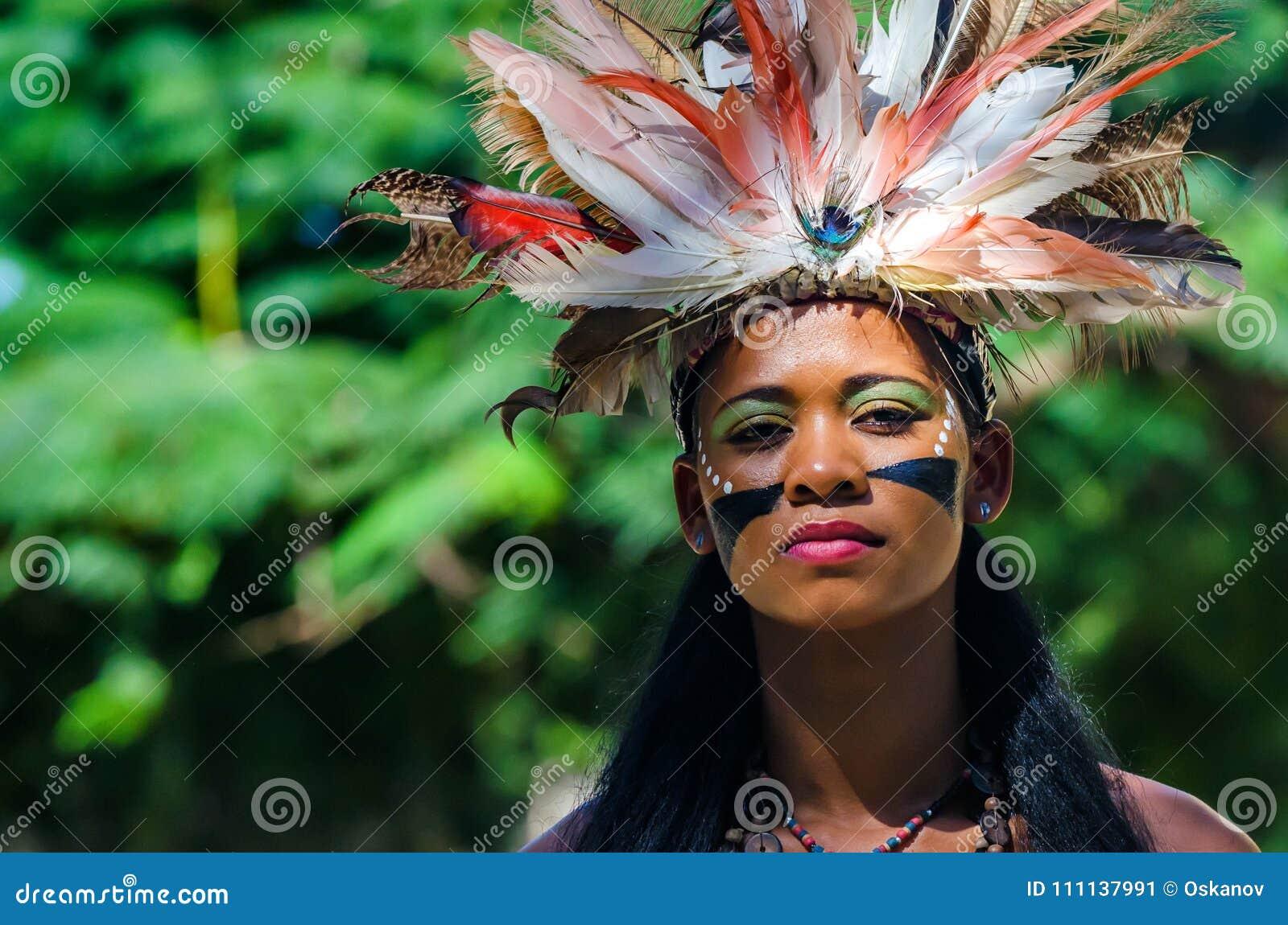 SANTO DOMINGO, DOMINICAN REPUBLIC - OCTOBER 29, 2015:Young beautiful Creol woman