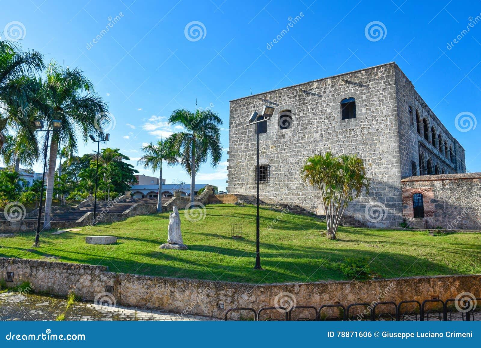 Santo Domingo, Dominican Republic. Statue of Maria De Toledo in Alcazar de Colon (Diego Columbus House).