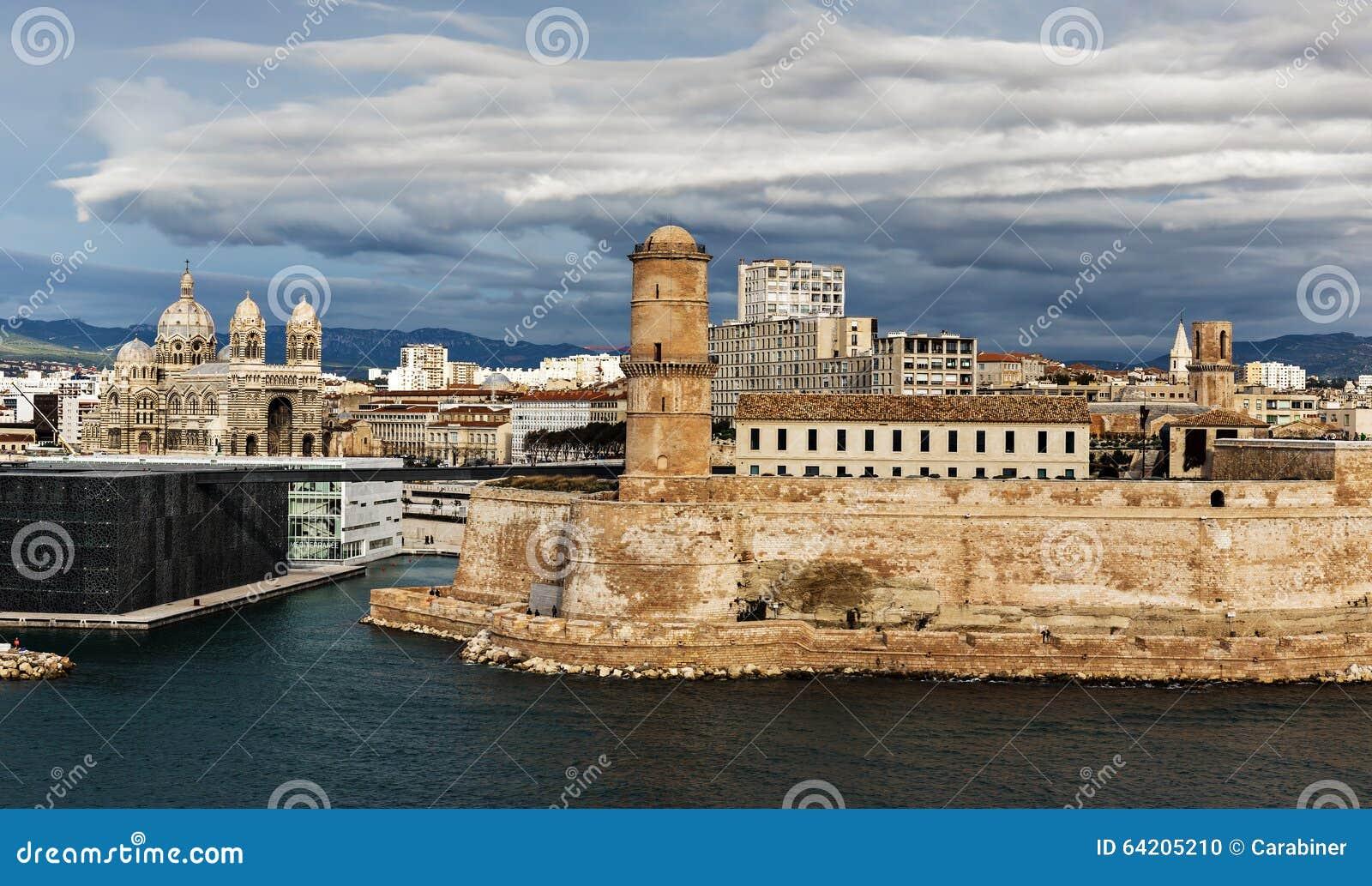 Santo Jean del puerto viejo y del fuerte en Marsella, Francia