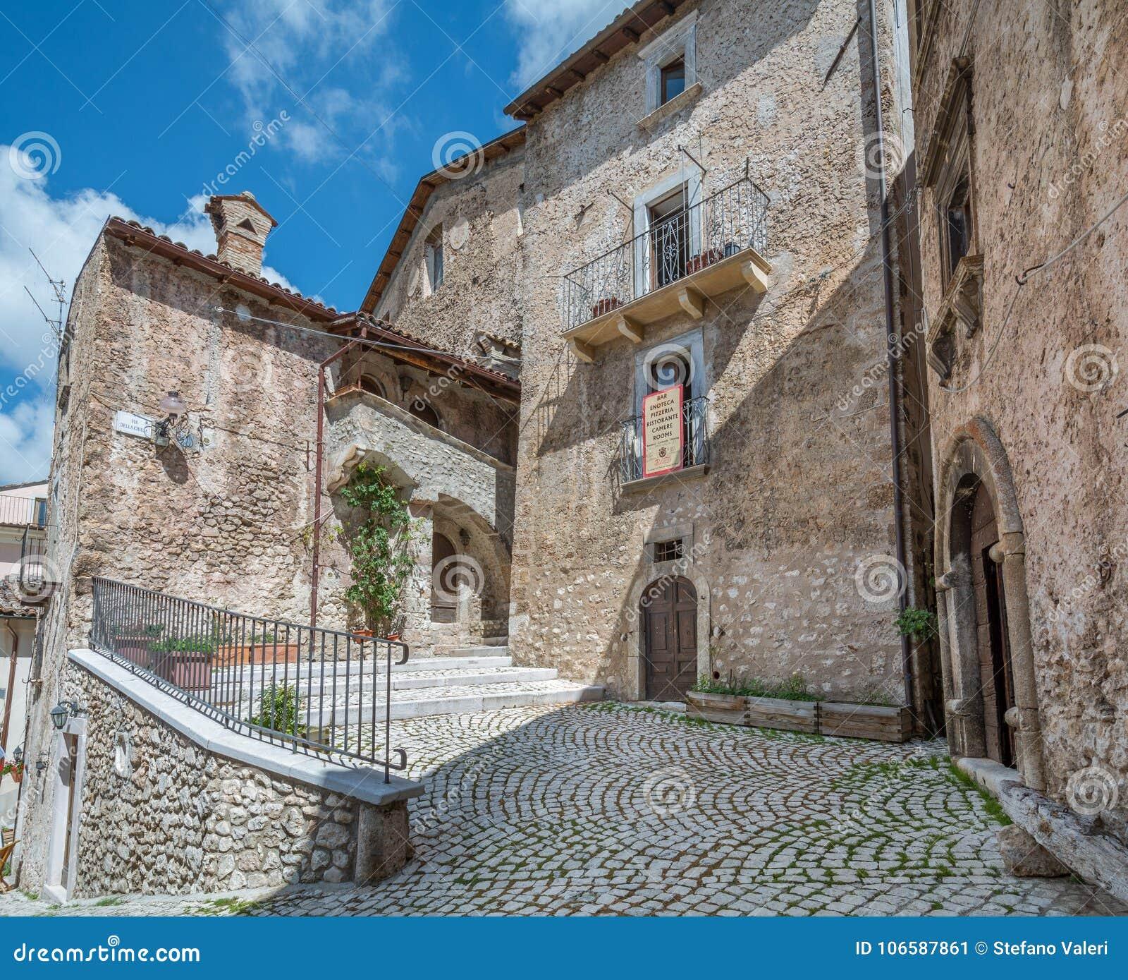 Scenic sight in Santo Stefano di Sessanio, province of L`Aquila, Abruzzo, central Italy.