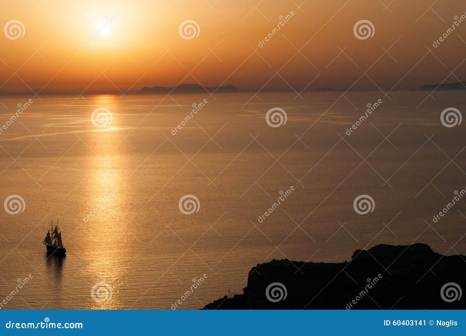 Santorini日落