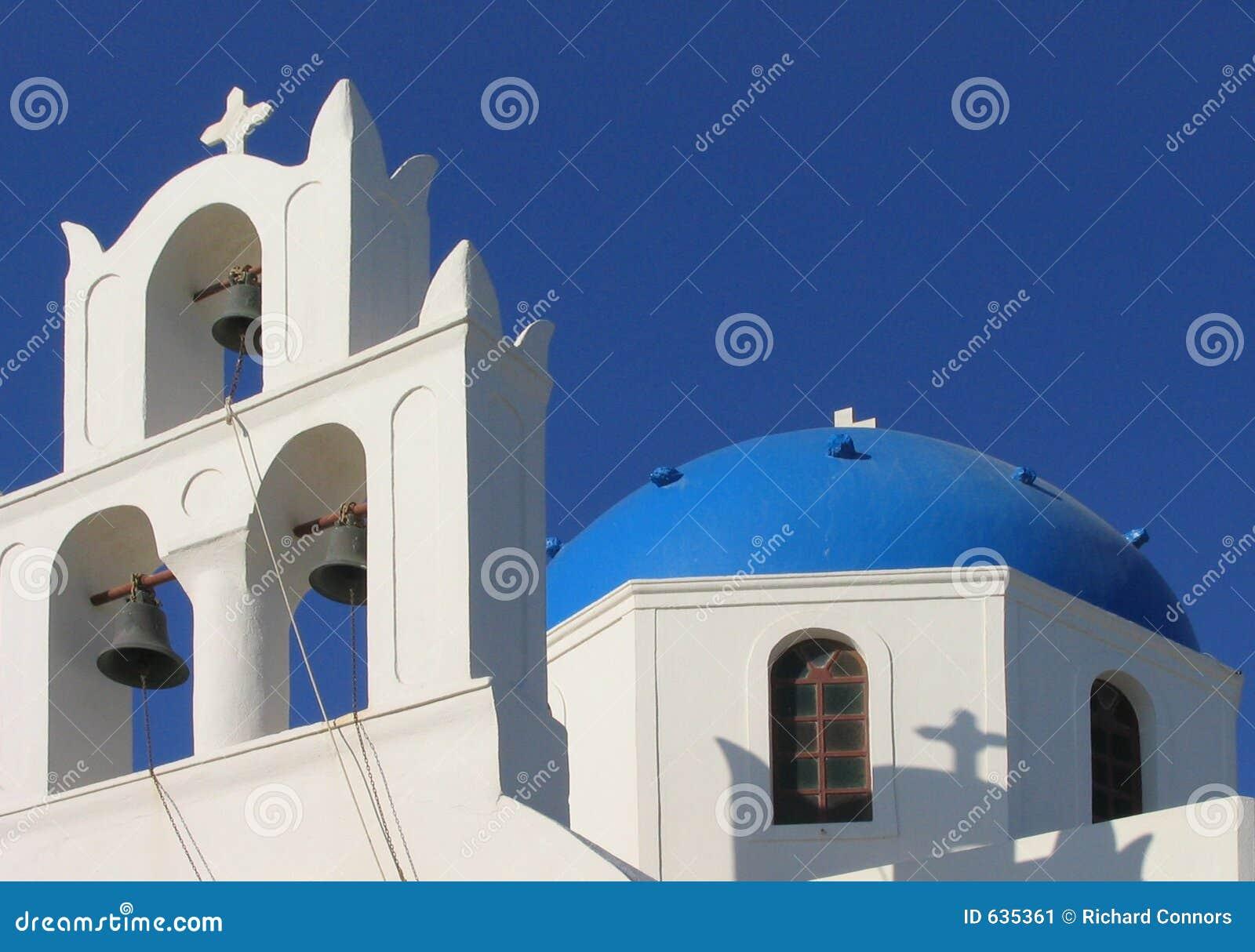 Download Santorini Греции церков правоверное Стоковое Изображение - изображение насчитывающей типично, cyclades: 635361