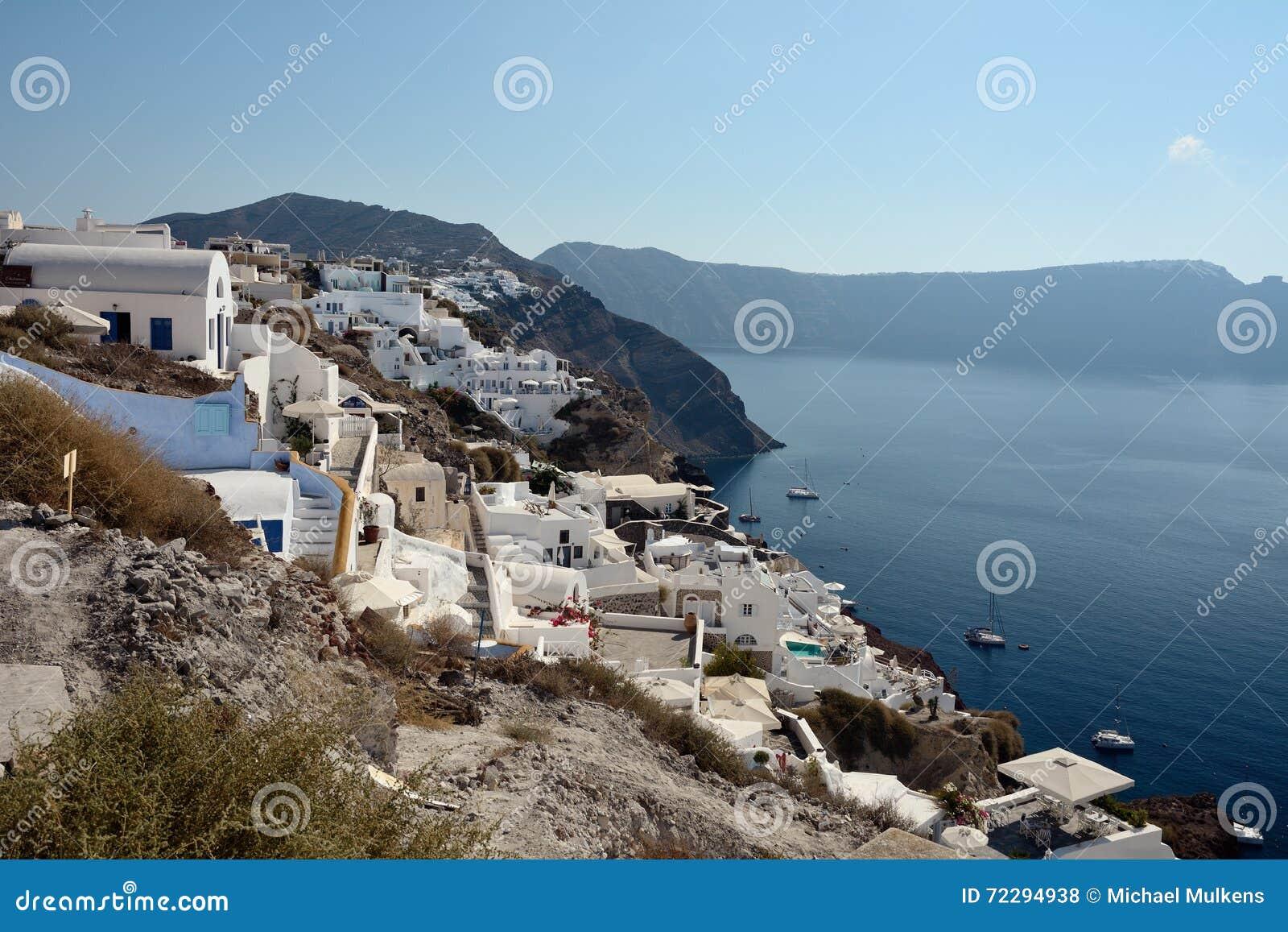Download Santorini Греции стоковое фото. изображение насчитывающей athene - 72294938