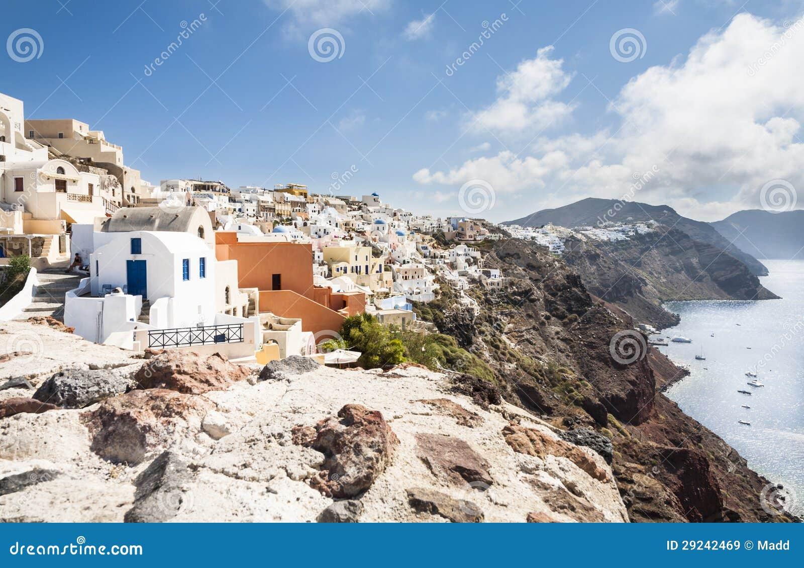 Download Santorini imagem de stock. Imagem de vulcão, material - 29242469