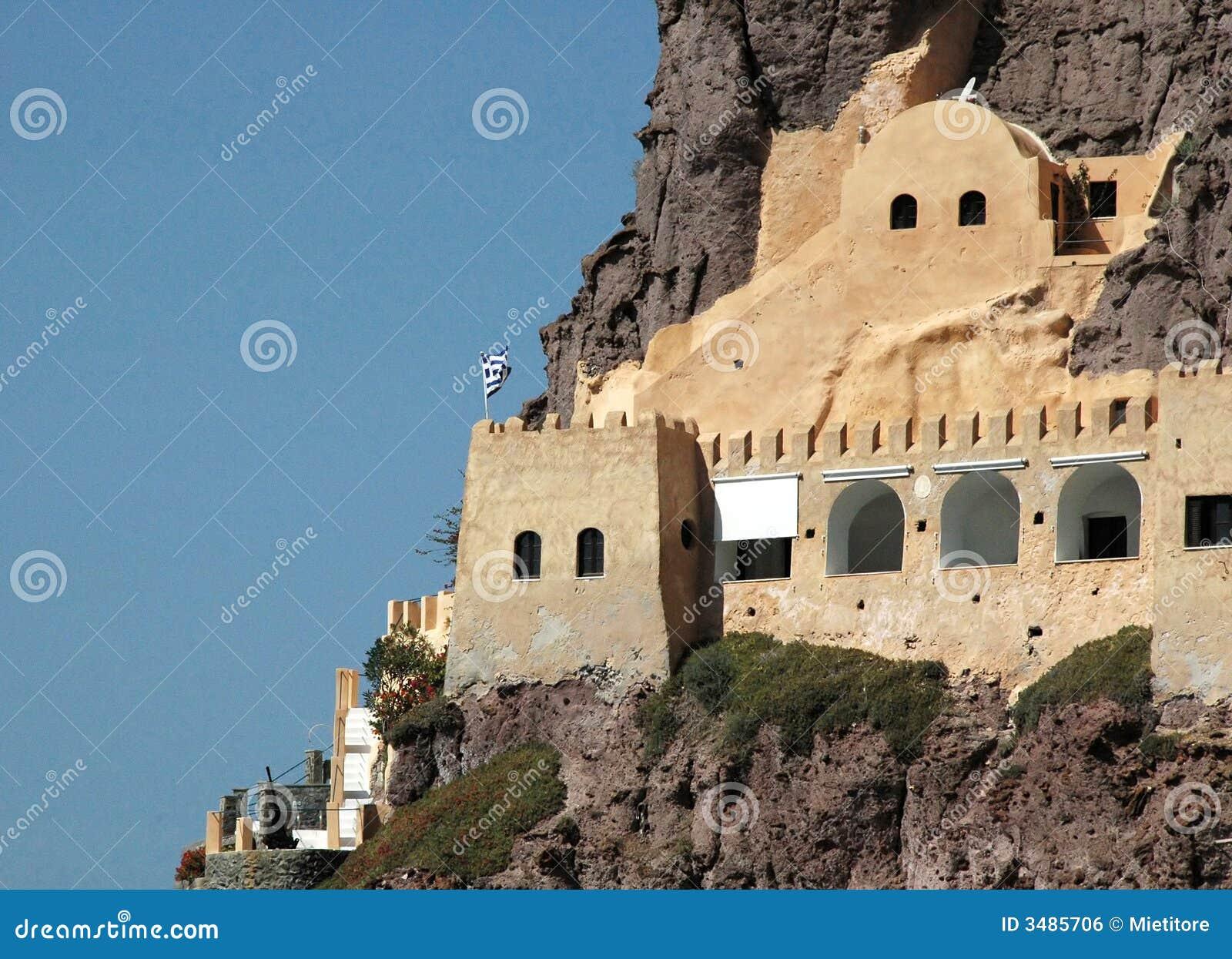 Santorini Coastal Fortress