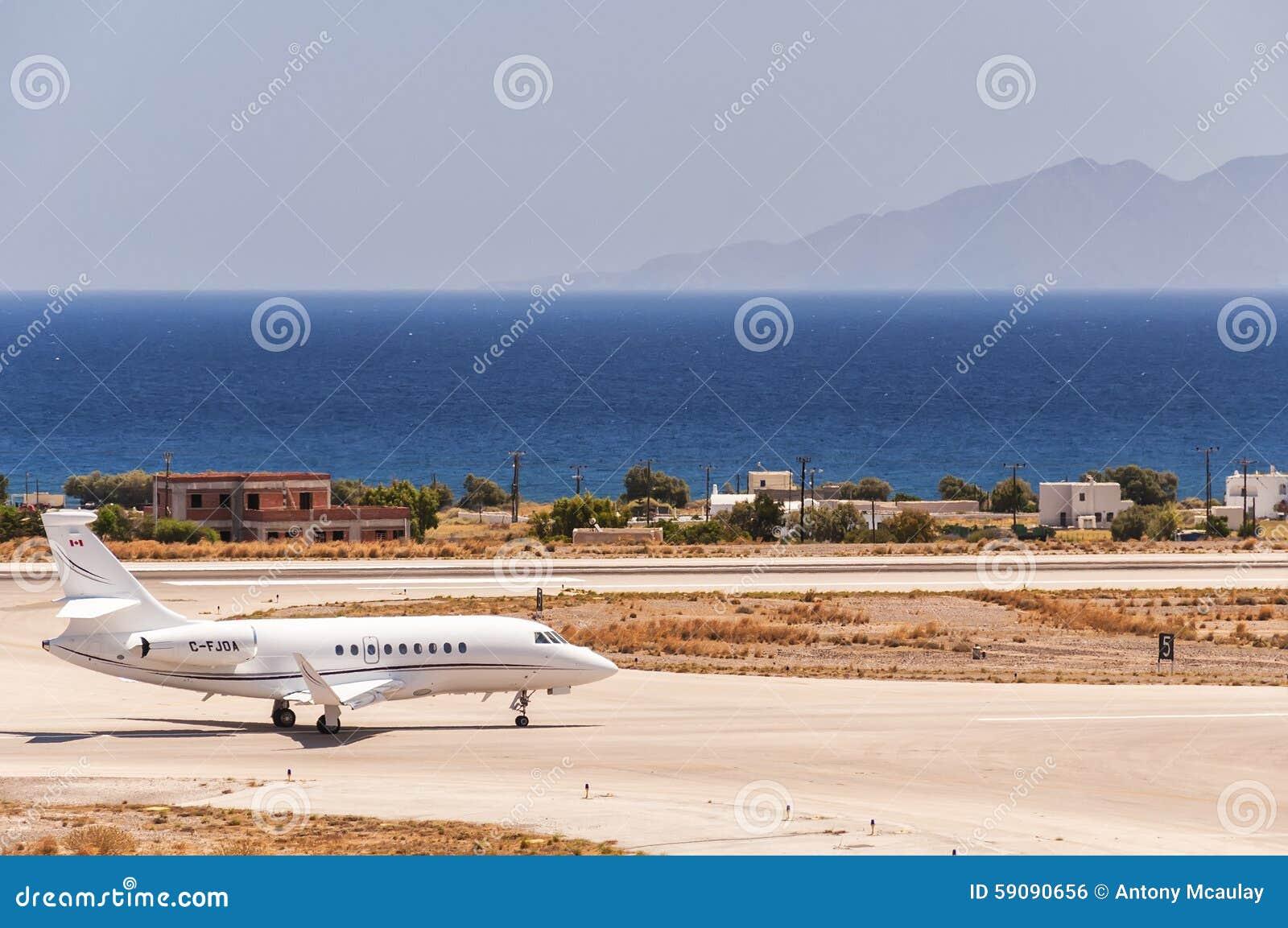 Santorini Departure Private Jet Editorial Photo  Image 59090656