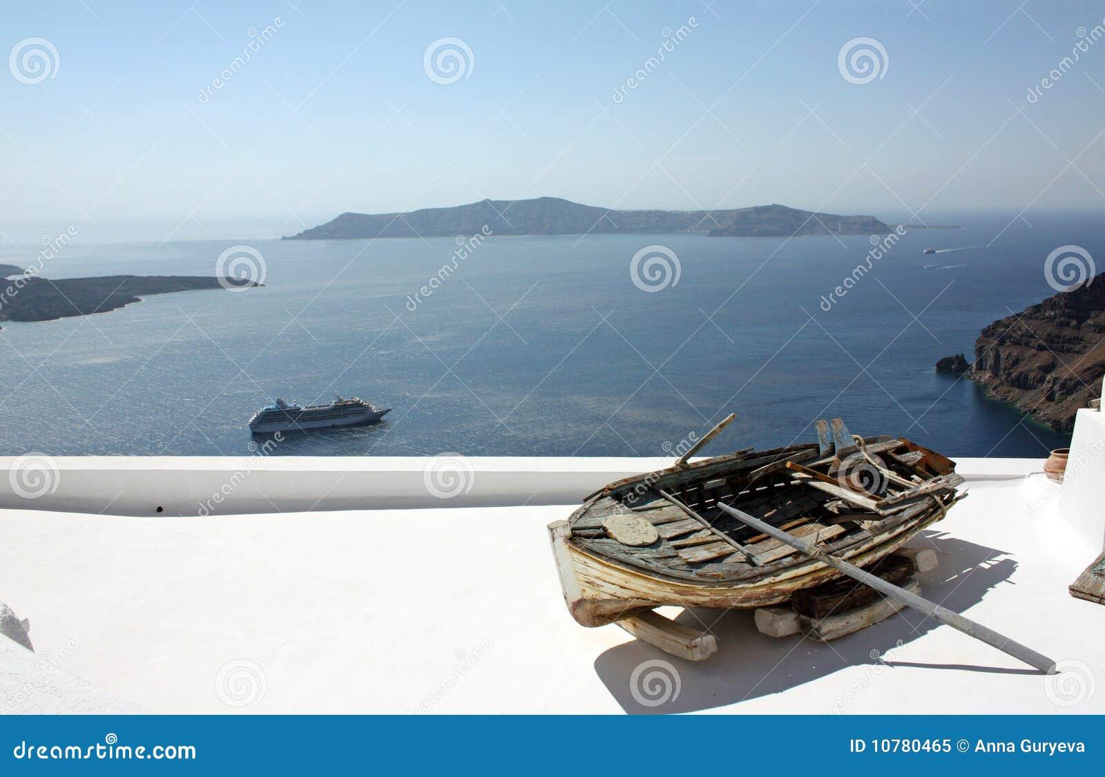 Santorini, een oude boot