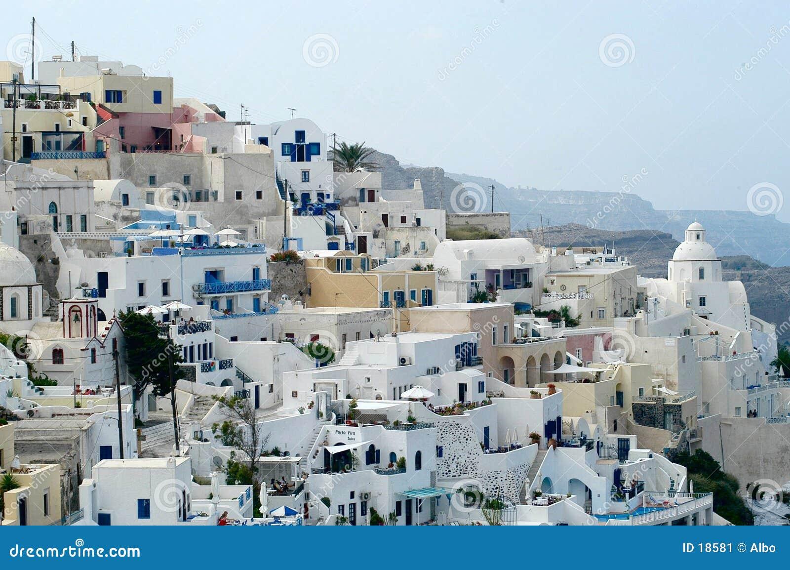 Santorini em o dia