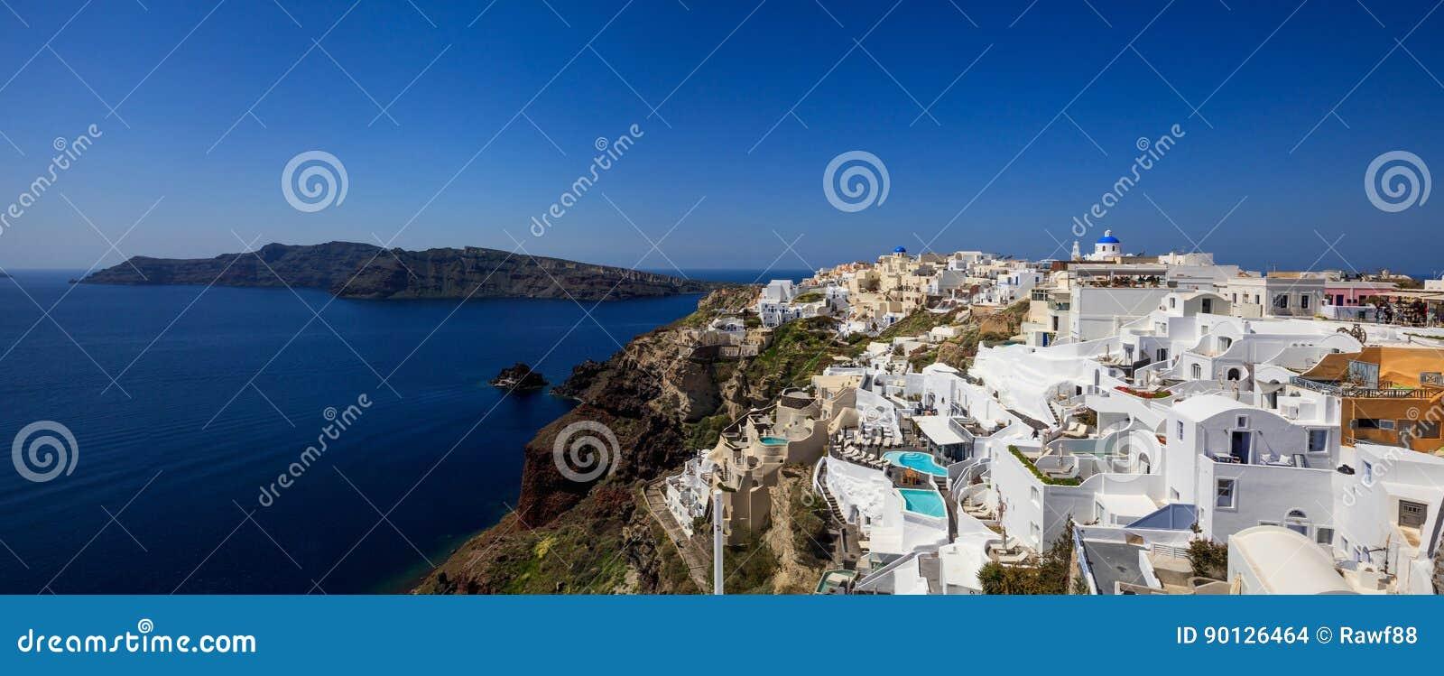 Santorini-Insel, Griechenland - Kessel über Ägäischem Meer