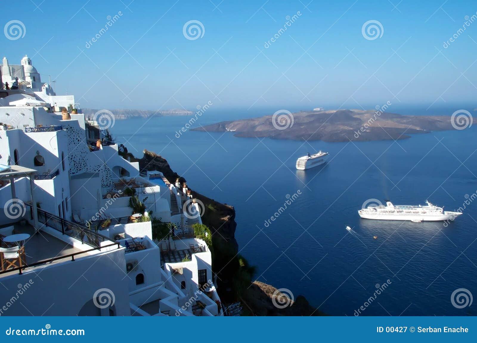 Santorini kaldery widok