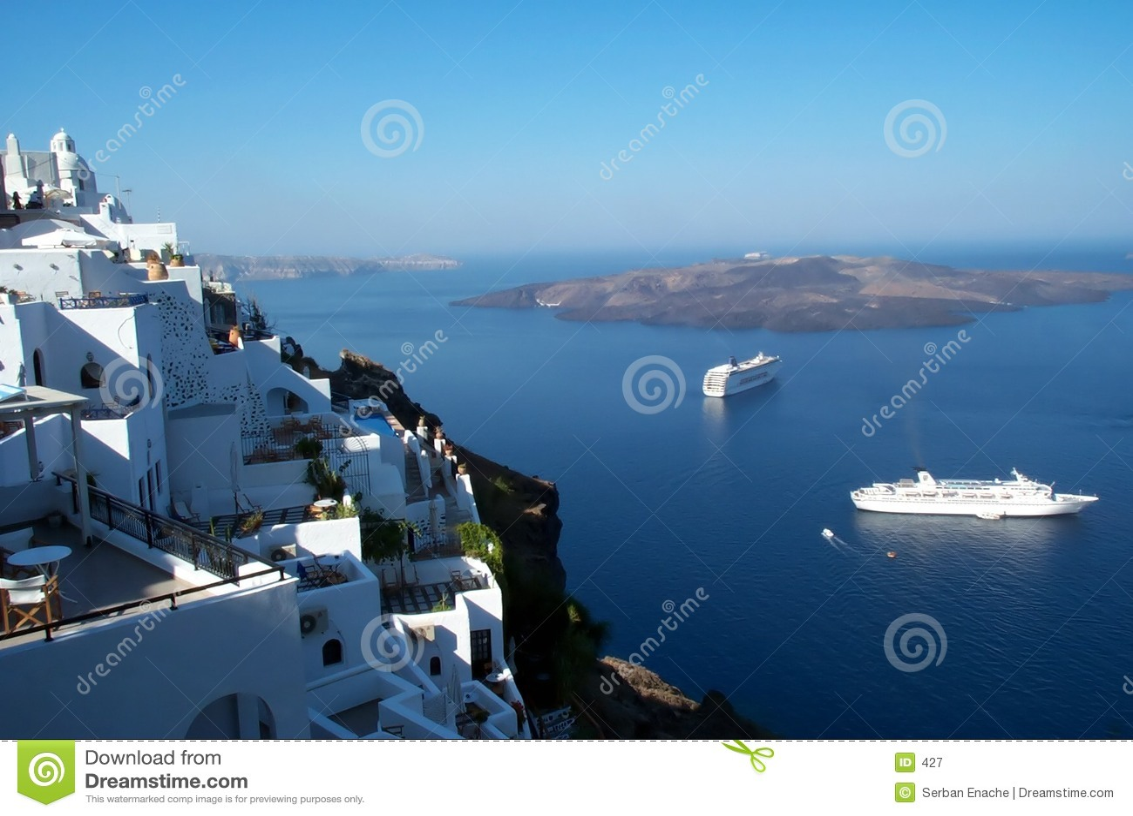 Santorini - Kesselansicht