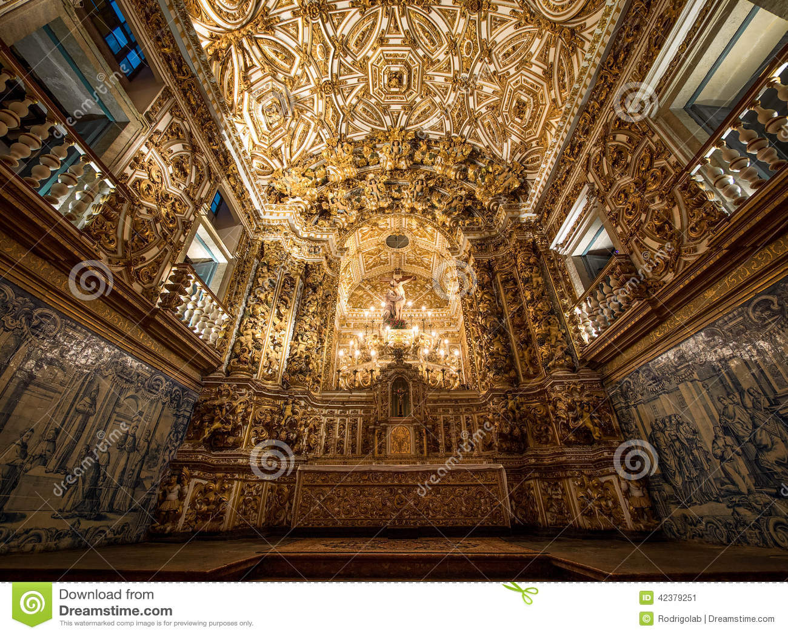 Sao Francisco Church et autel de couvent, Salvador da Bahia, Brazi
