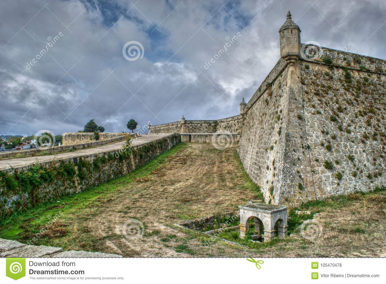 Download Sao Neutel Fortress In Chaves Stock Photo - Image of modern, exterior: 105470478