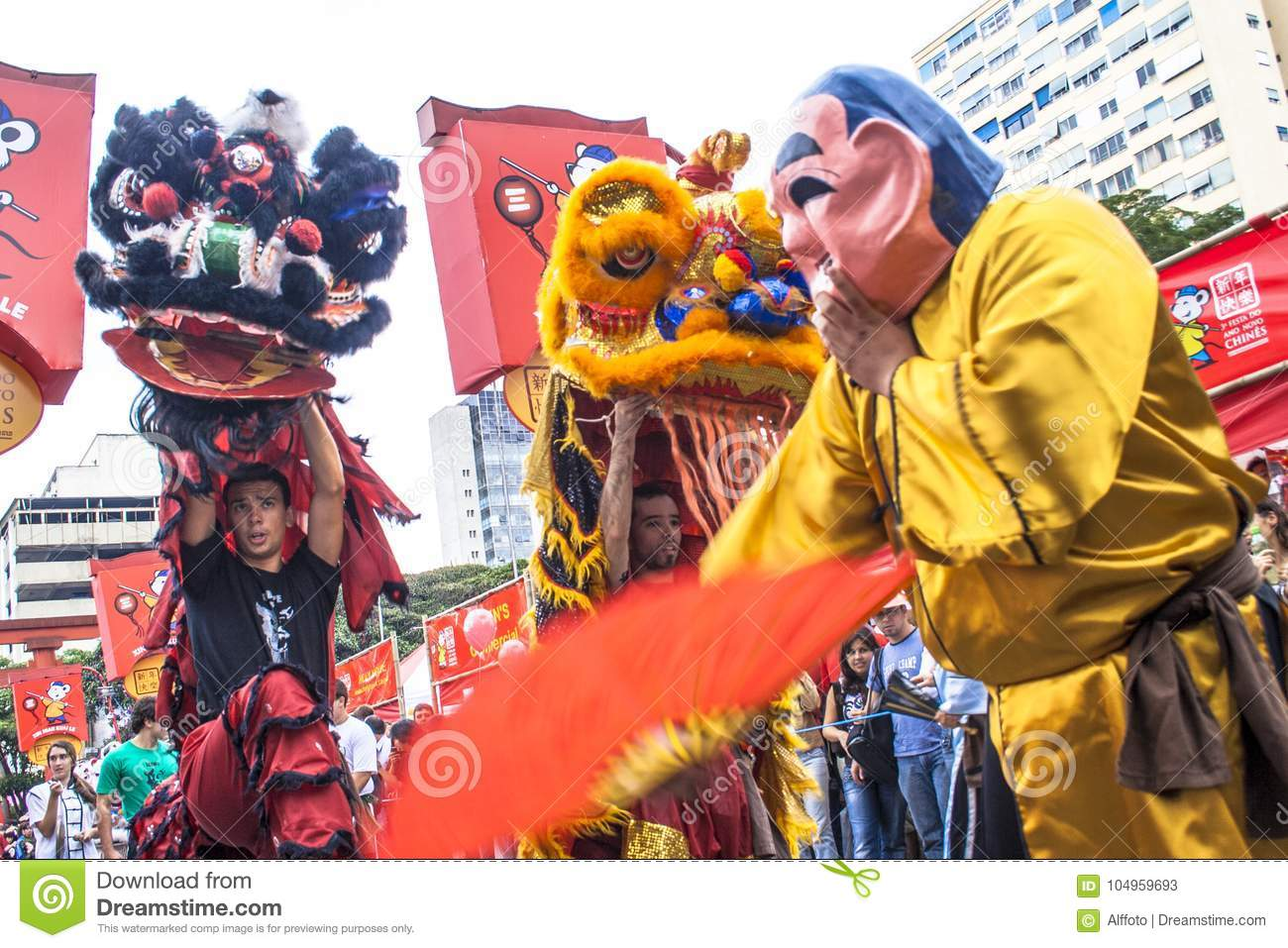 Celebration of Chinese New Year in Brazil