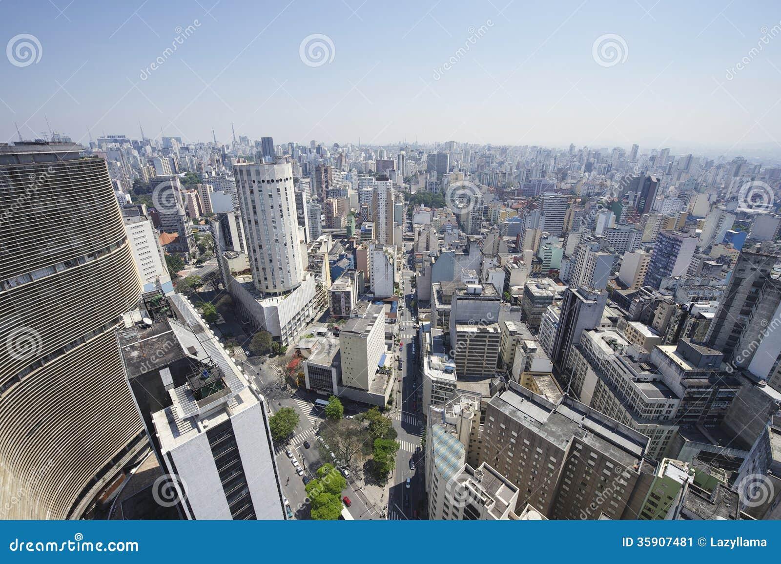 Sao Paulo Brazylia linii horyzontu architektury punkty zwrotni