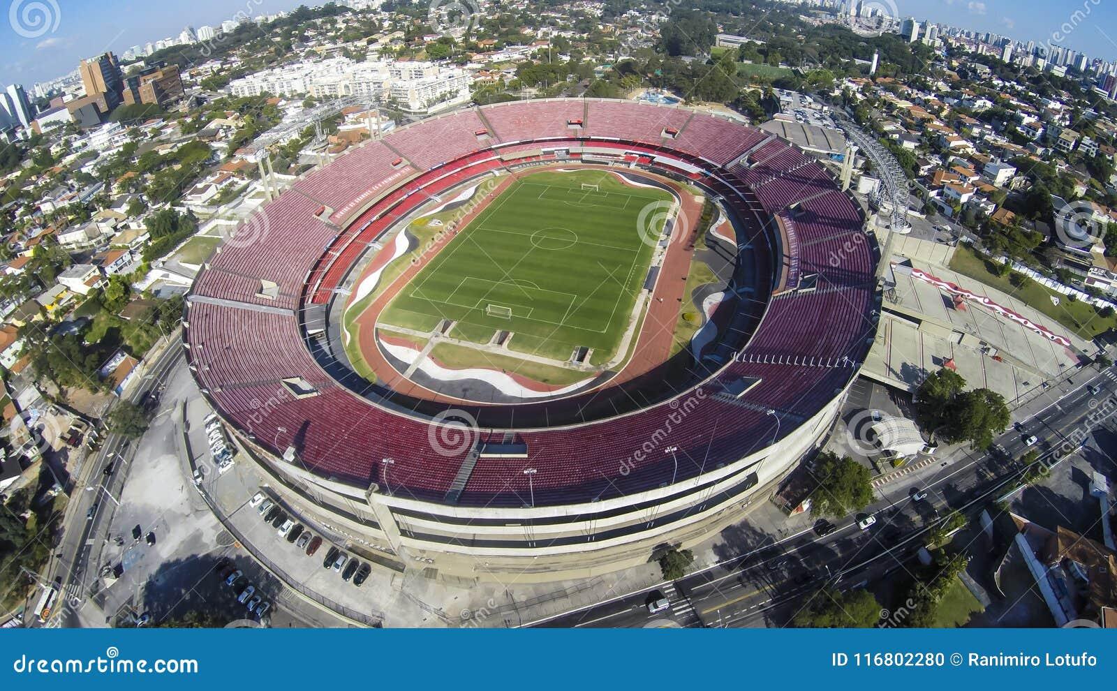 Sao Paulo Futebol Clube o stadio Cicero Pompeu de Toledo, Brasile