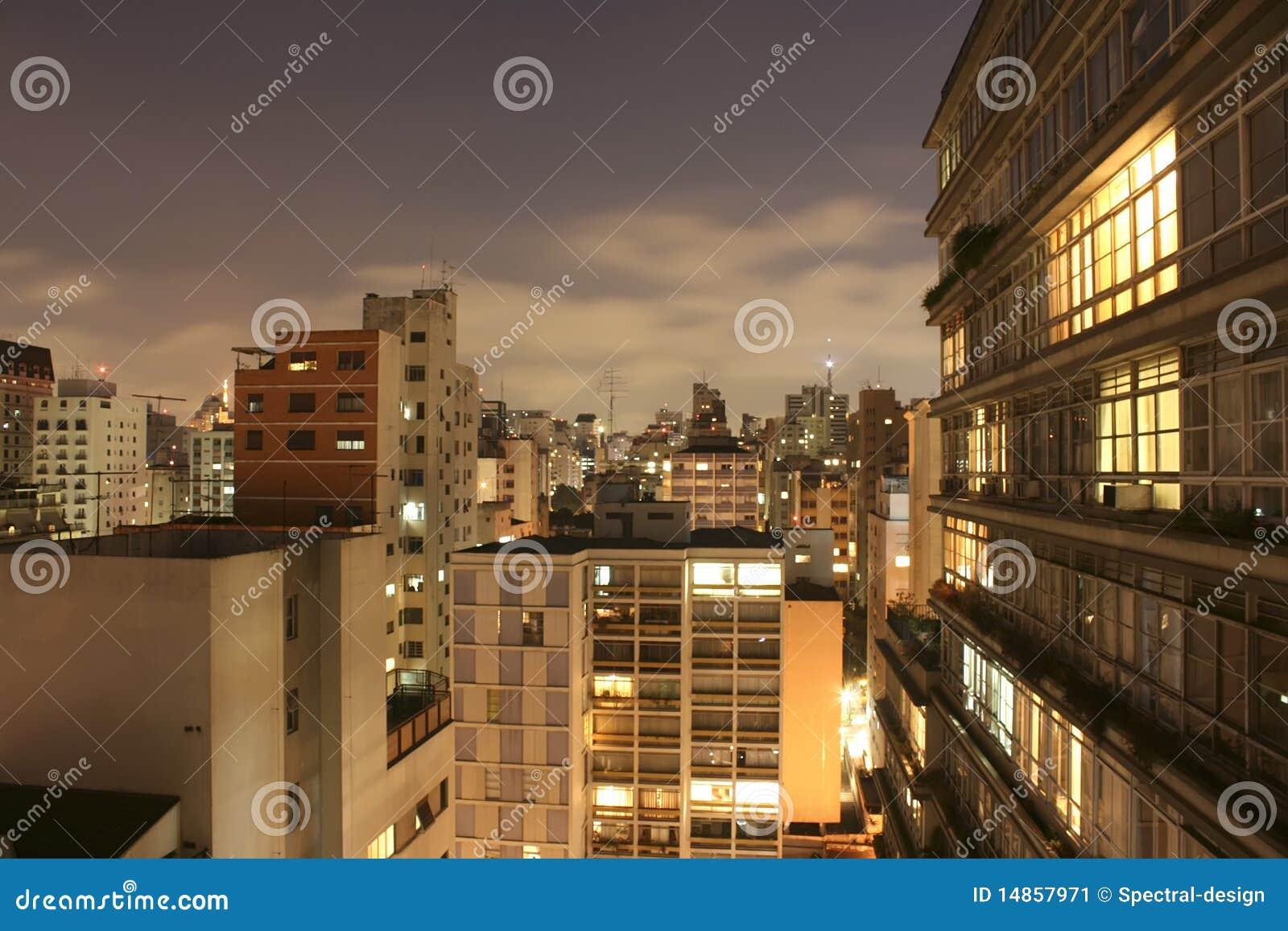 Sao Paulo Skyline at night