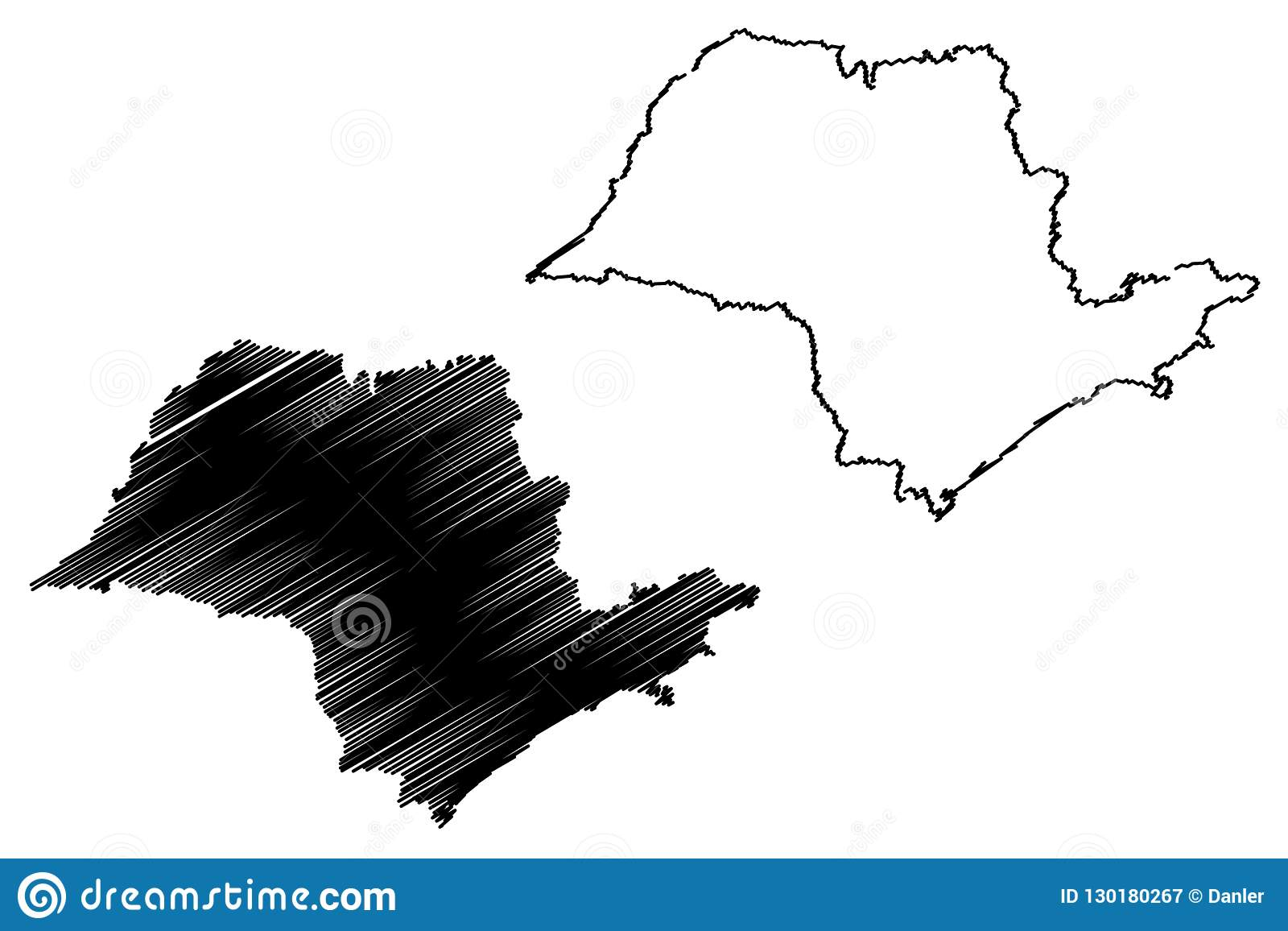 Sao Paulo State Map.Sao Paulo State Map Vector Stock Vector Illustration Of Geography