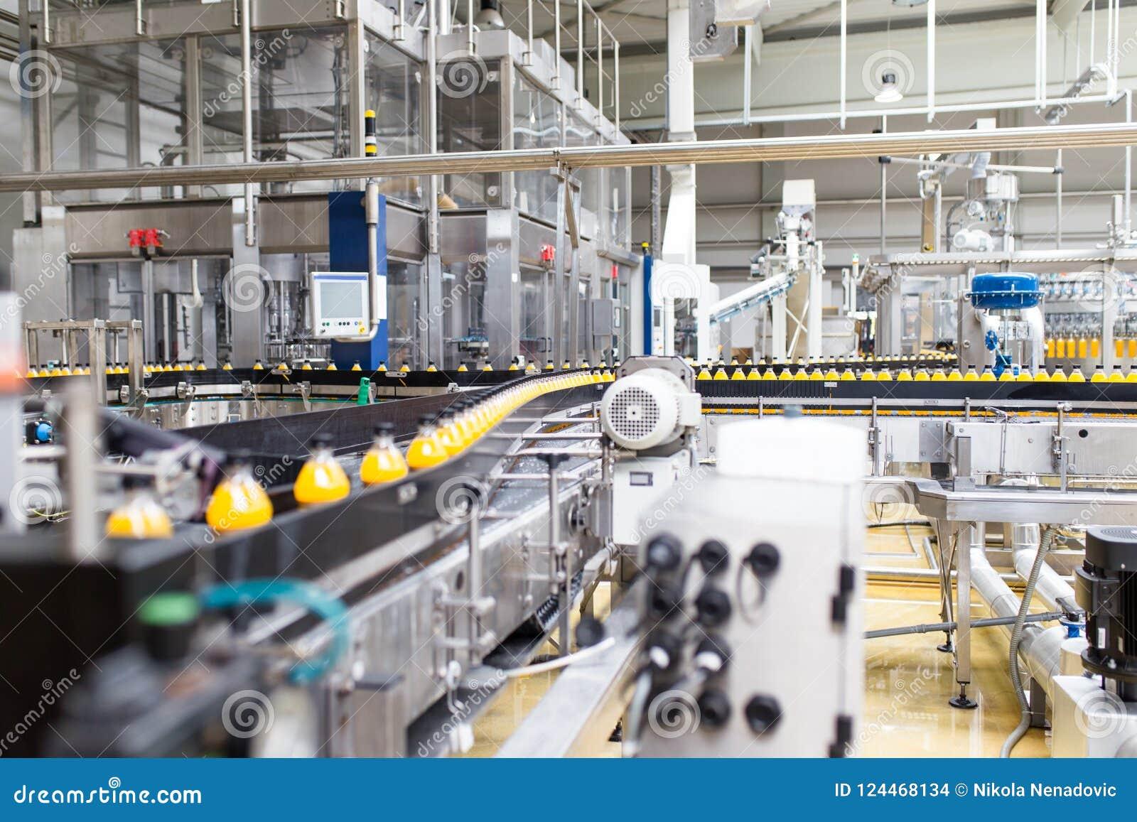 Sap en soda bottelende fabriek